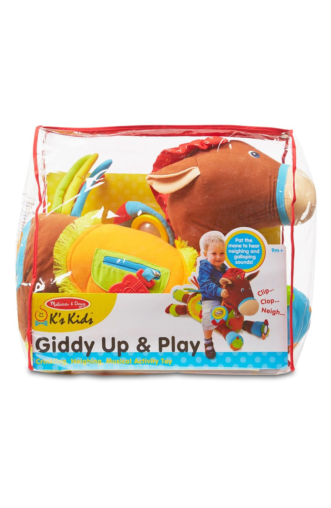'Giddy Up & Play' Activity Horse,                             Main thumbnail 1, color,                             BROWN