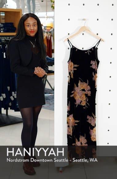 Mallorey Floral Print Velvet Dress, sales video thumbnail