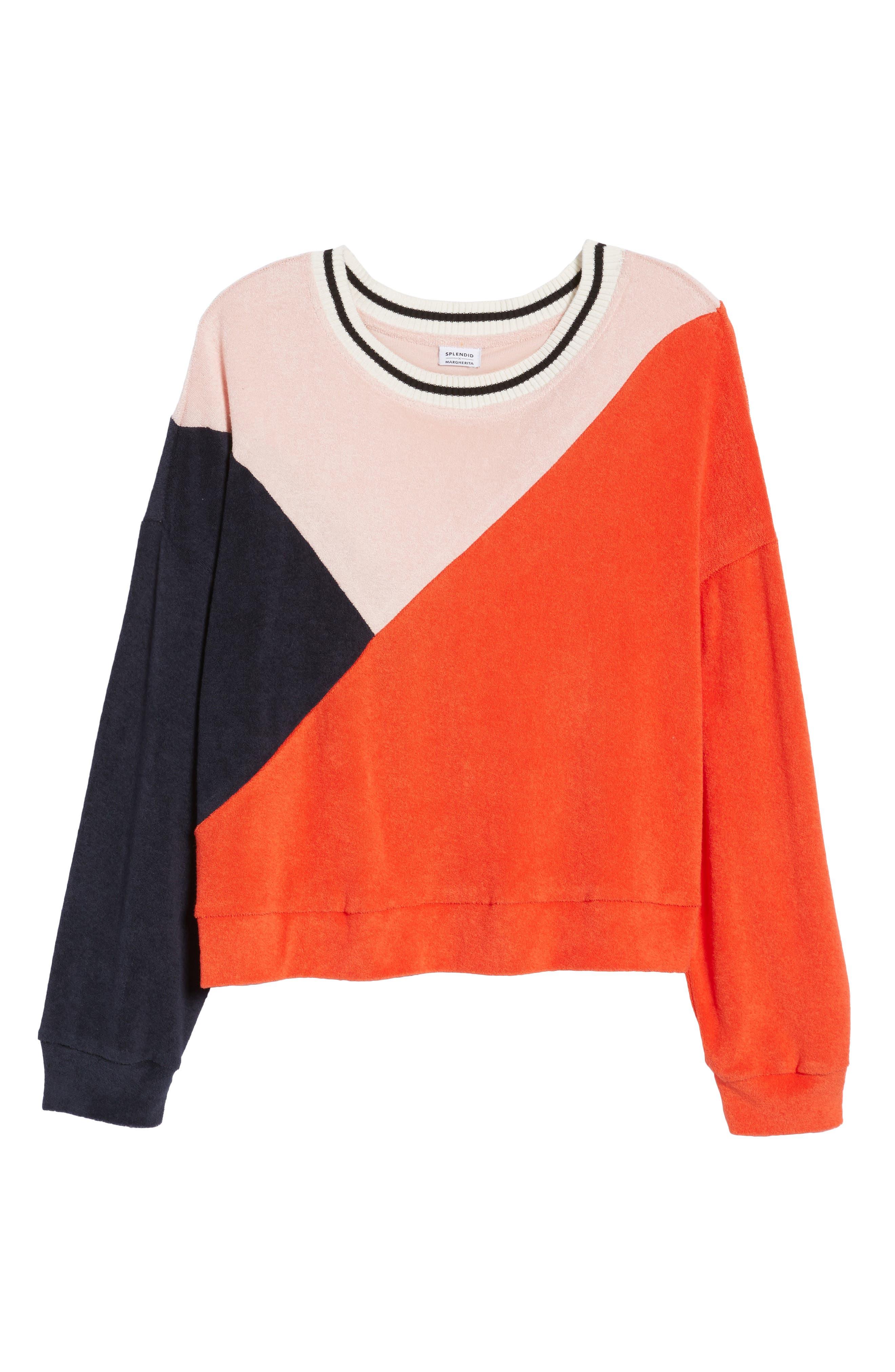 x Margherita Sportivo French Terry Sweatshirt,                             Alternate thumbnail 6, color,                             602
