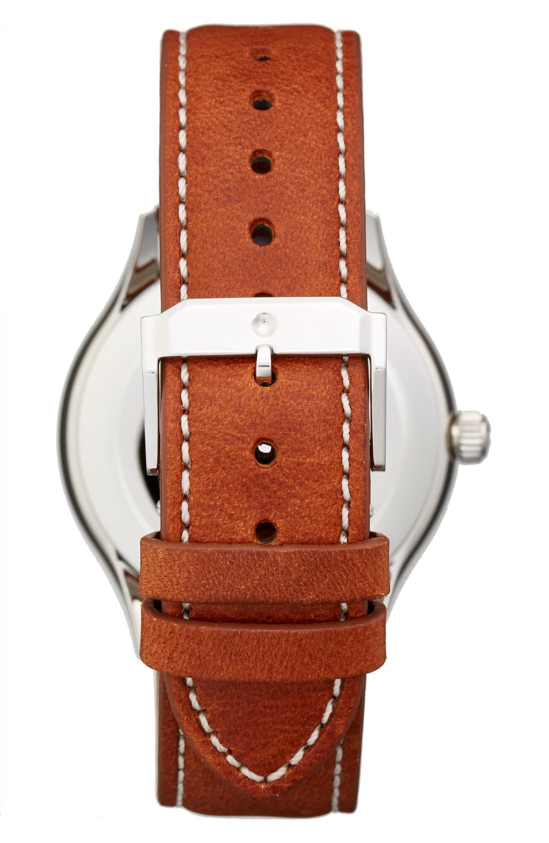 'Heritage' Leather Strap Watch, 40mm,                             Alternate thumbnail 2, color,                             BROWN/ BLACK
