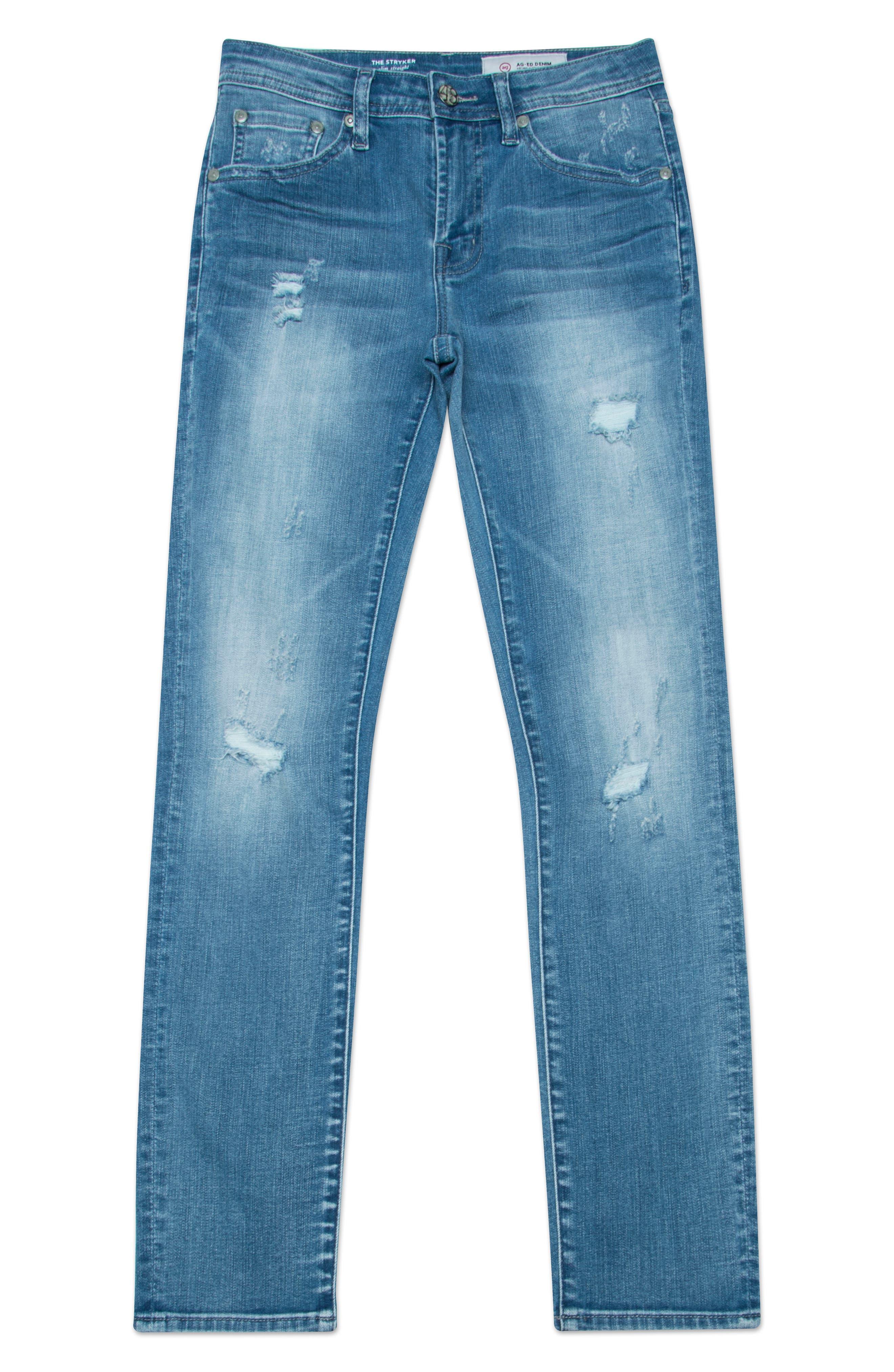 The Stryker Slim Straight Leg Jeans,                             Main thumbnail 1, color,                             11Y MANUSCRIPT