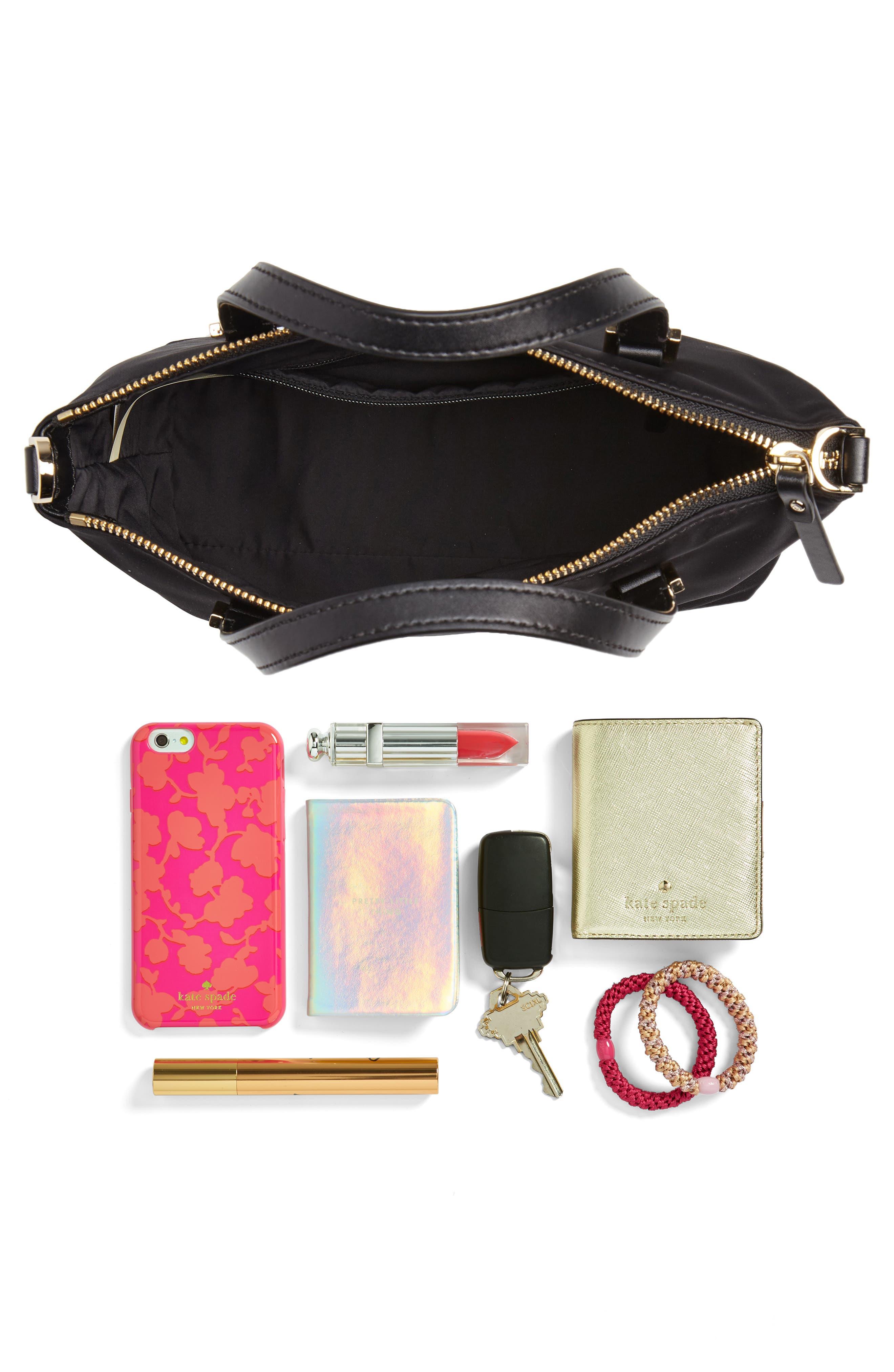watson lane - lucie nylon crossbody bag,                             Alternate thumbnail 7, color,                             BLACK