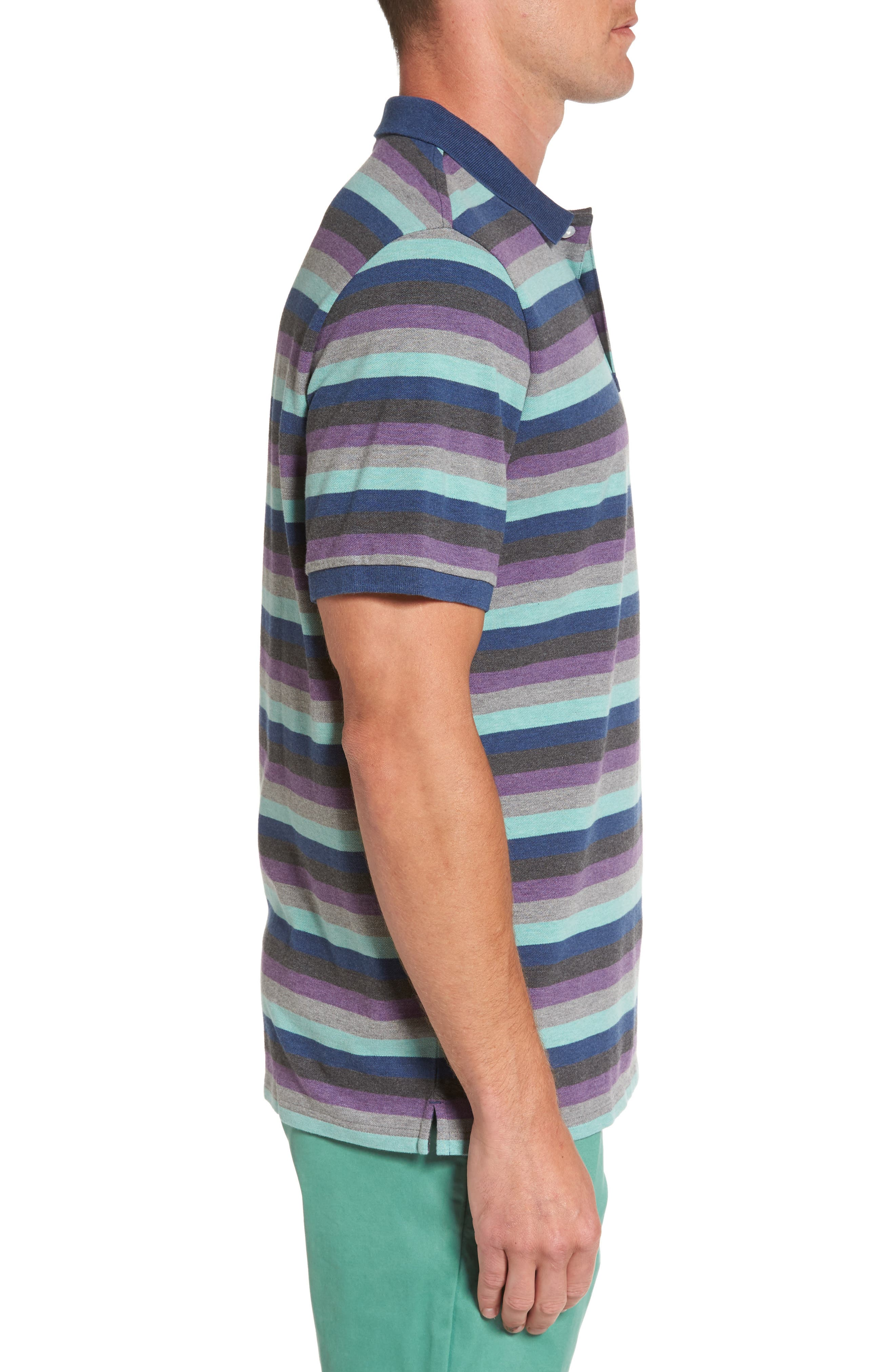 Striped Polo,                             Alternate thumbnail 3, color,                             020