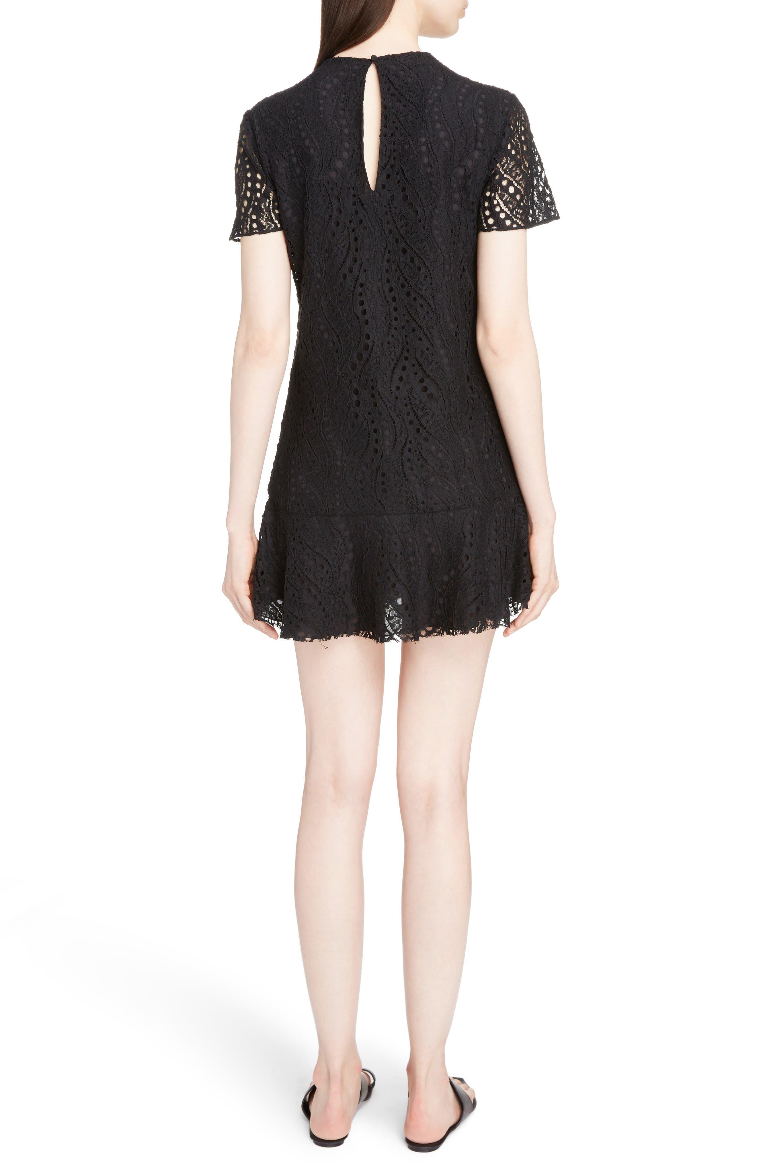 Lace Ruffle Hem Dress,                             Alternate thumbnail 2, color,