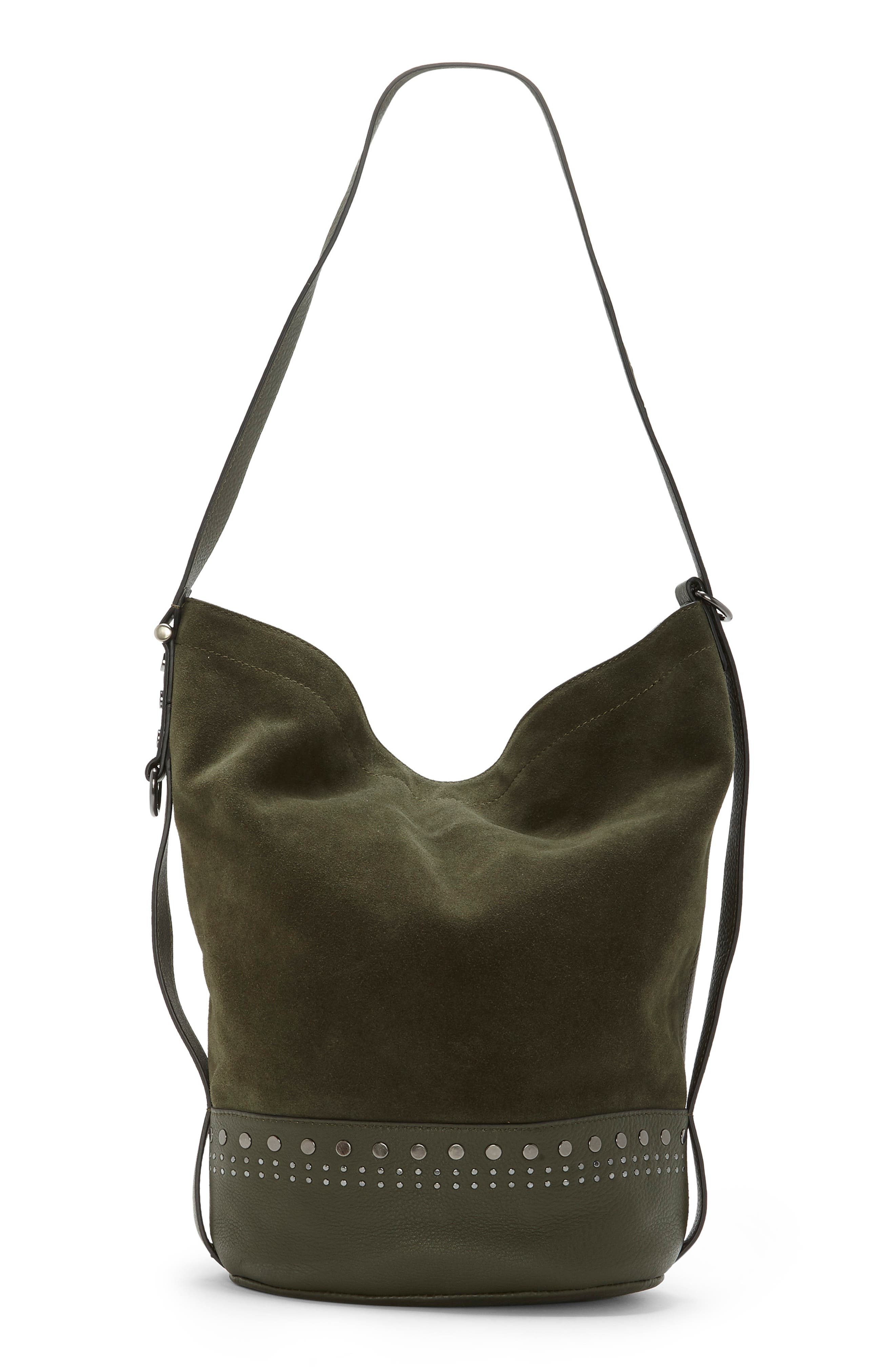Julie Leather Hobo,                             Main thumbnail 1, color,                             PINE FOREST