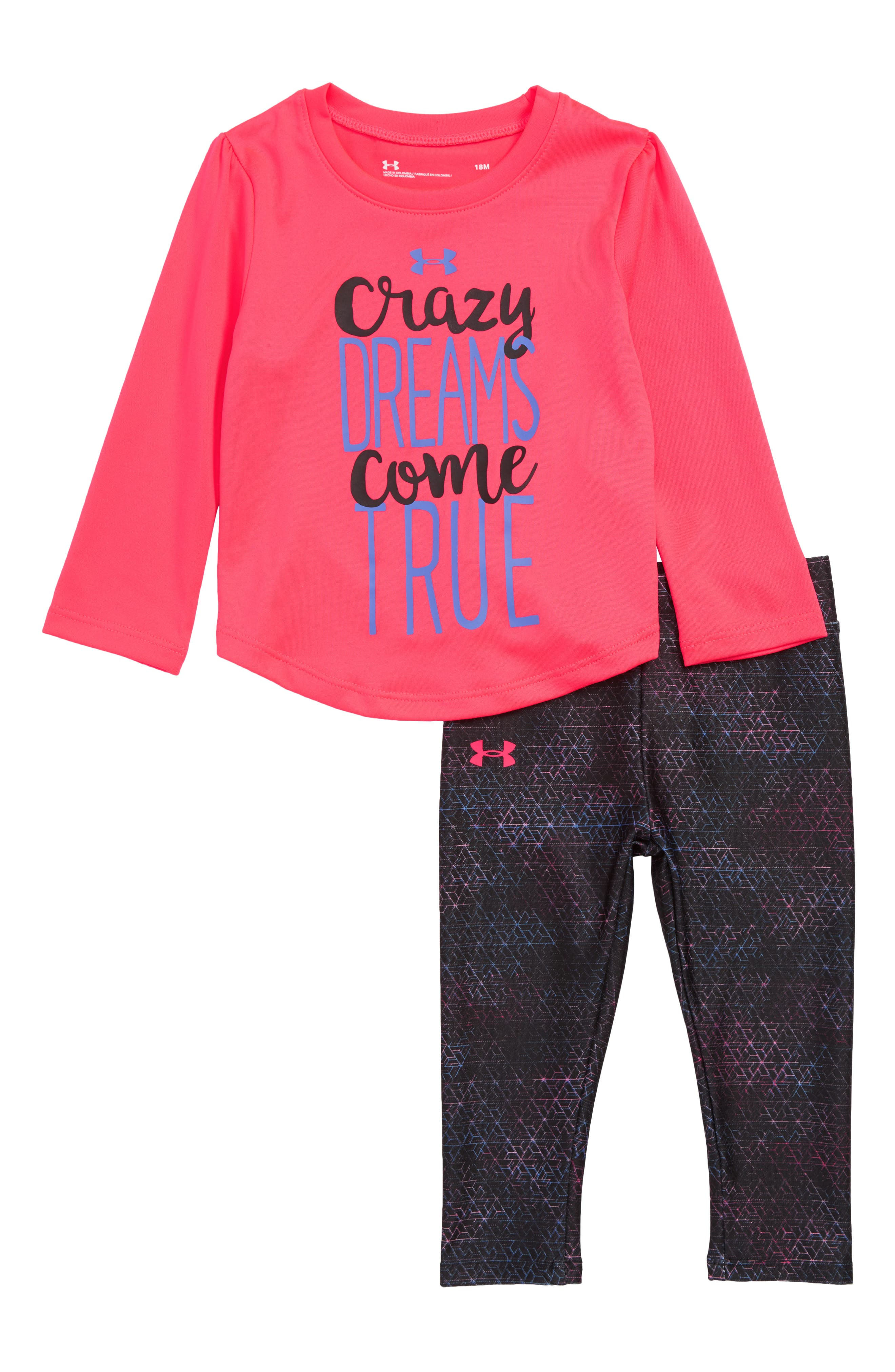Infant Girls Under Armour Crazy Dreams Come True Tee  Leggings Set