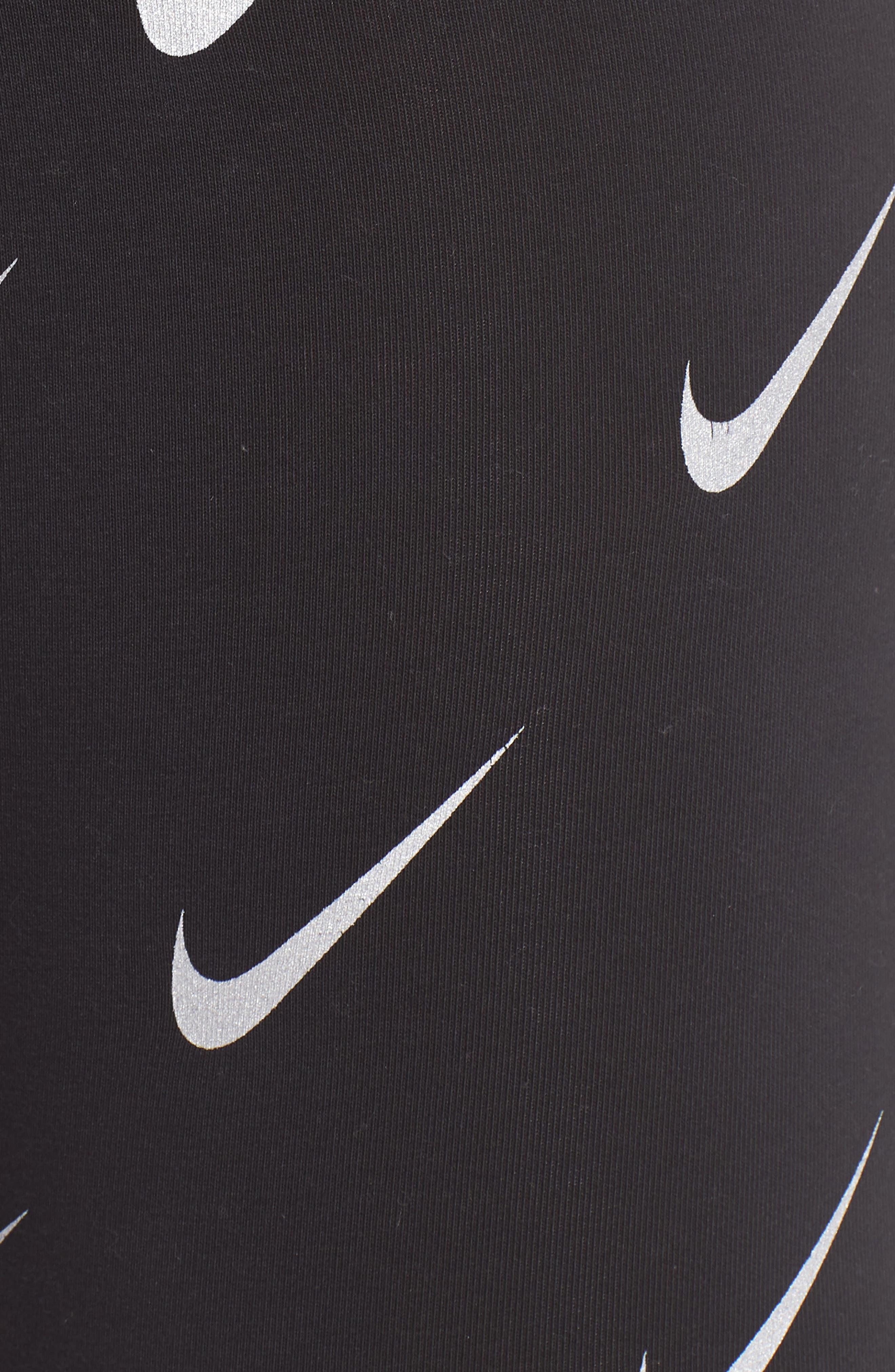 Sportswear Leg-A-See High Rise Print Leggings,                             Alternate thumbnail 6, color,                             BLACK
