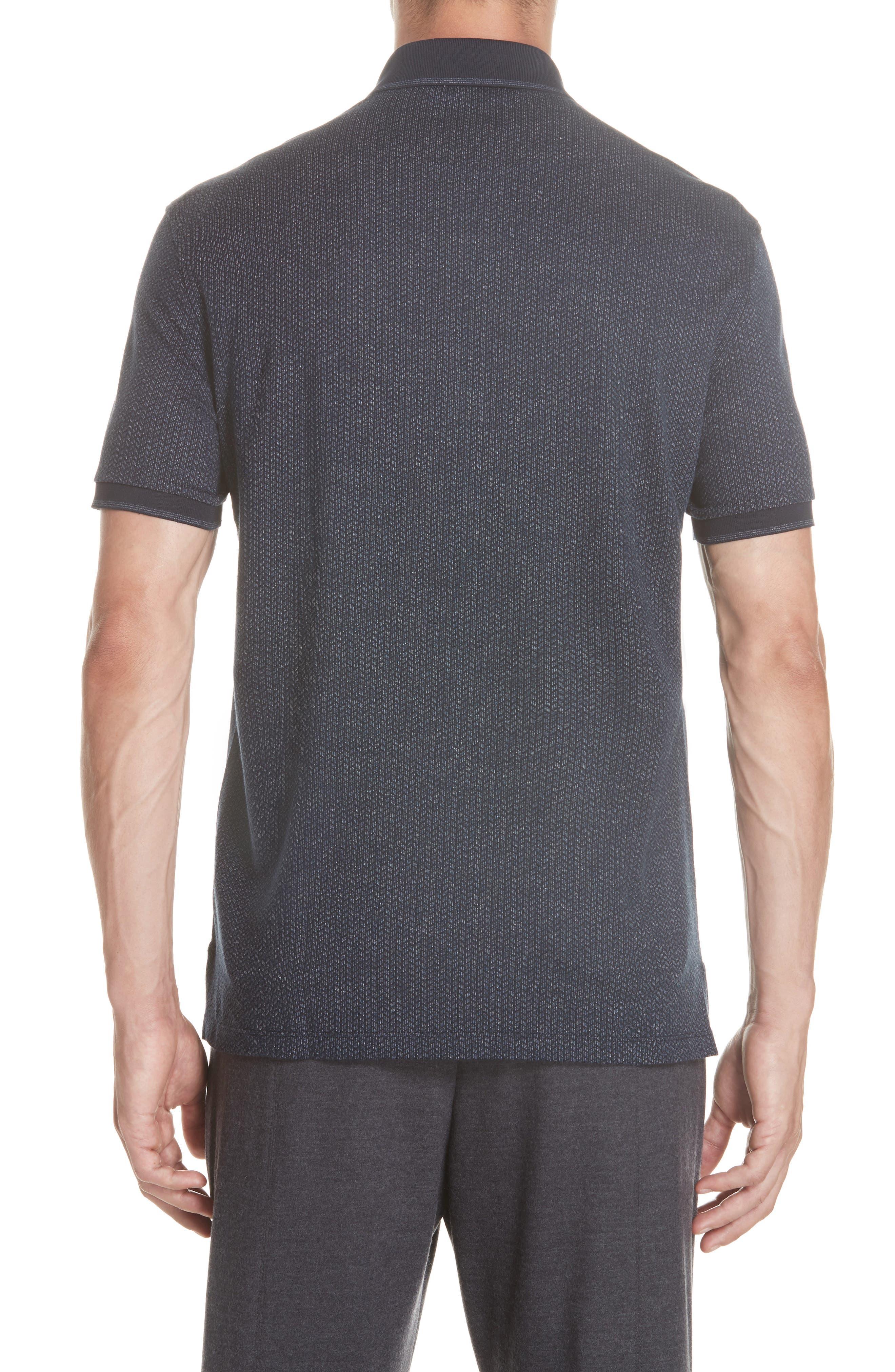 Cotton Polo Shirt,                             Alternate thumbnail 2, color,                             NAVY