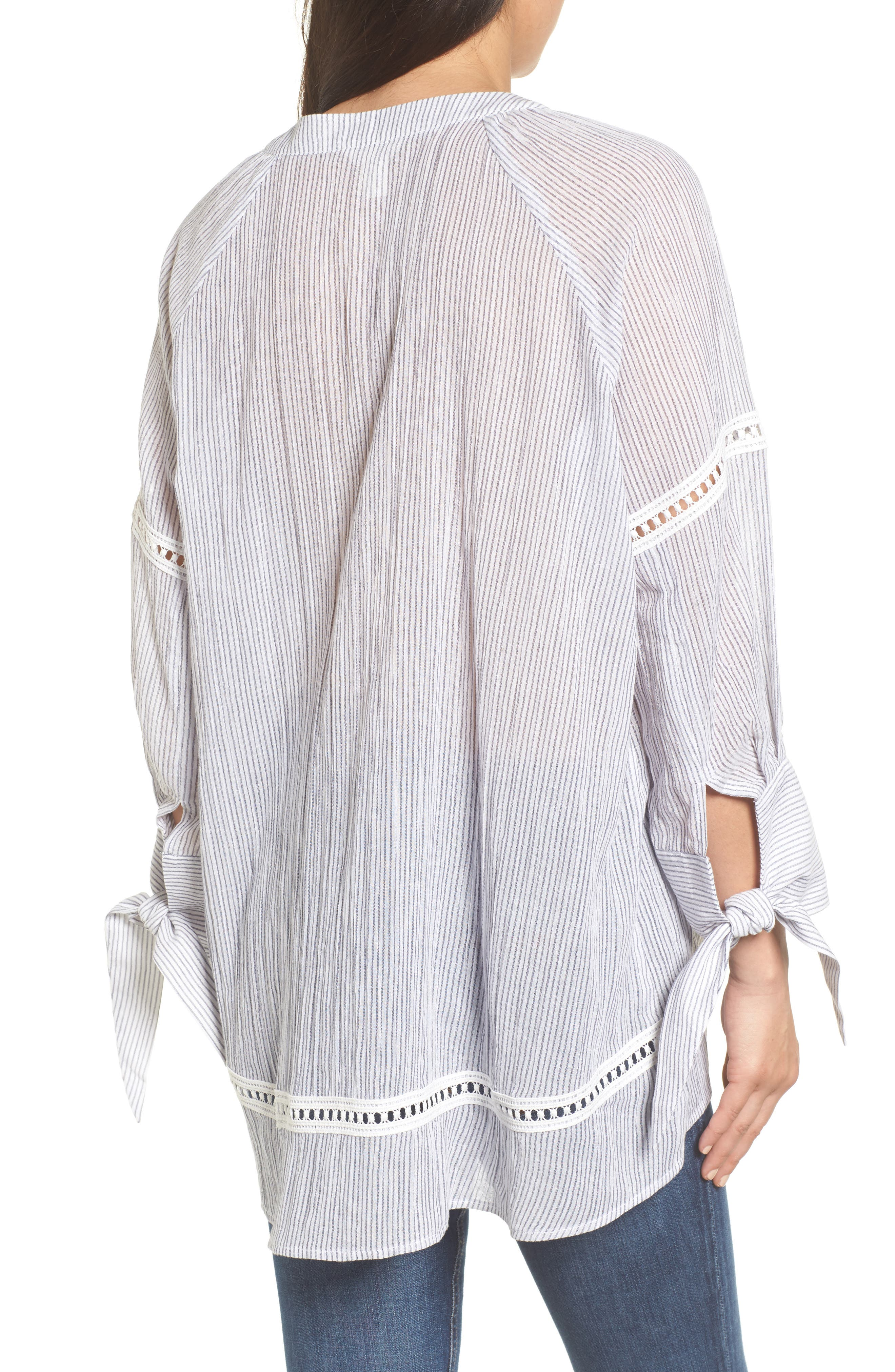 Tie Sleeve Woven Tunic,                             Alternate thumbnail 2, color,                             410