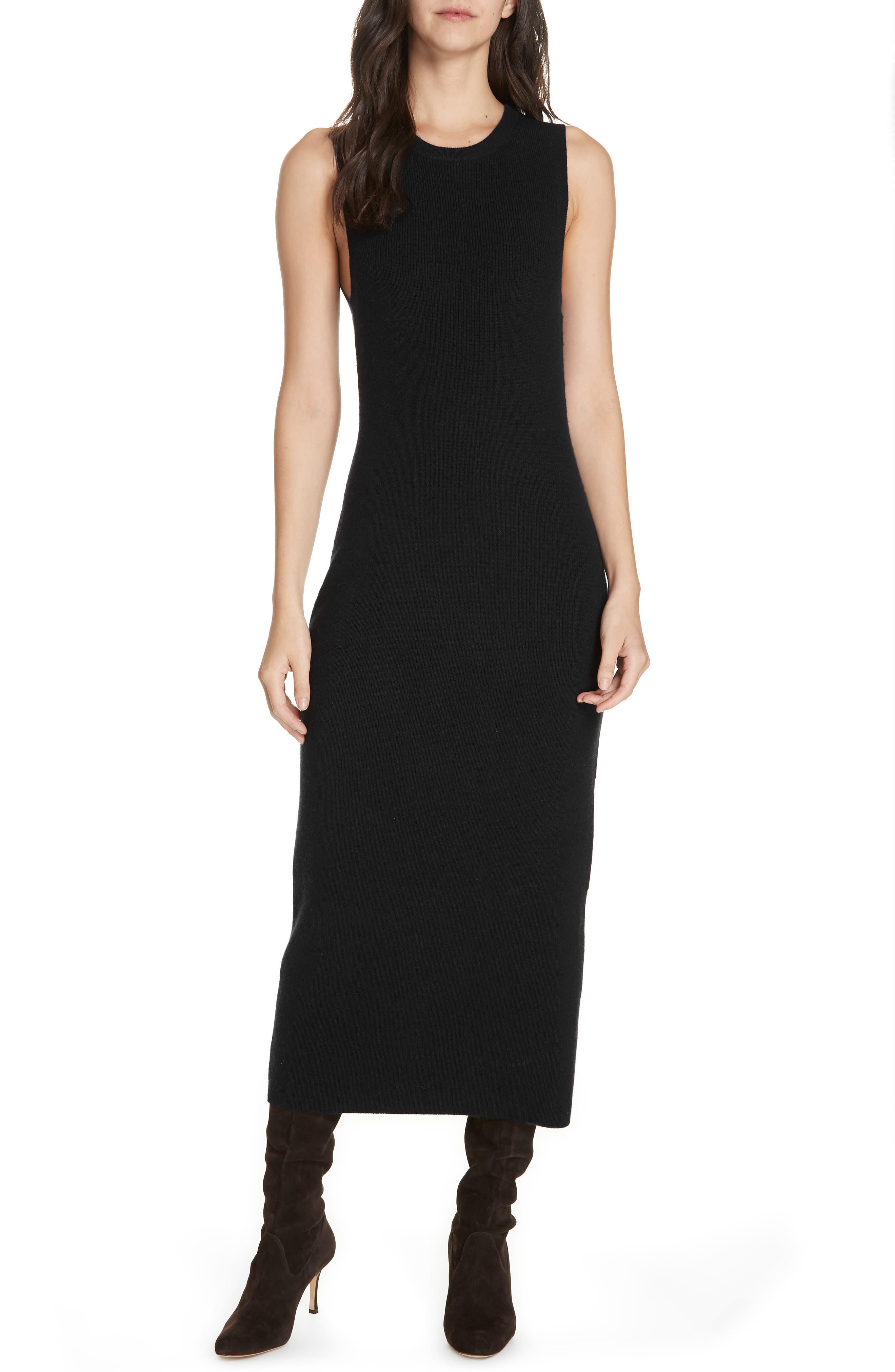 JENNI KAYNE Midi Sweater Dress in Black