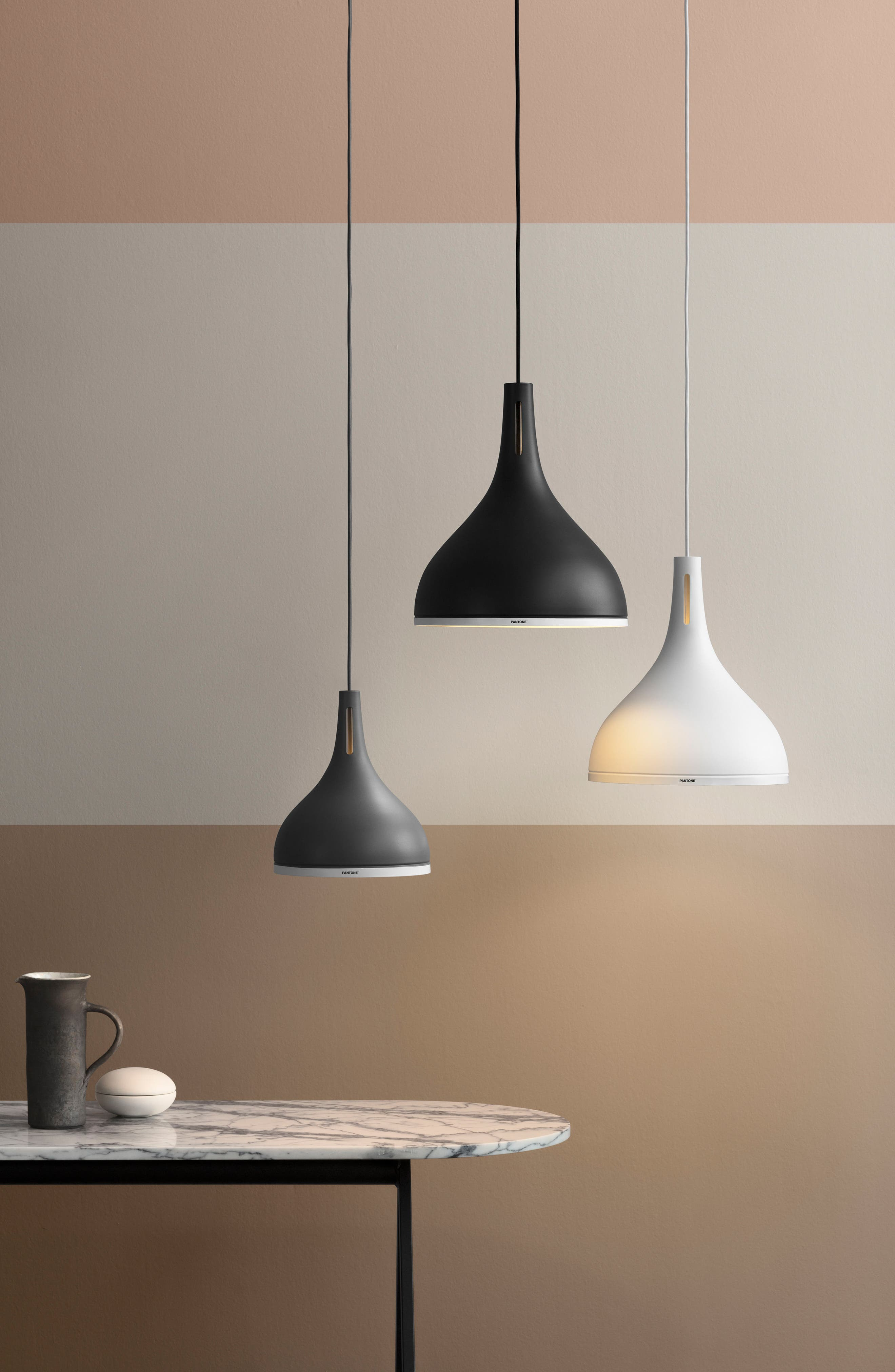 Pantone<sup>™</sup> Castor 25 Pendant Lamp,                             Alternate thumbnail 2, color,                             BLACK BEAUTY