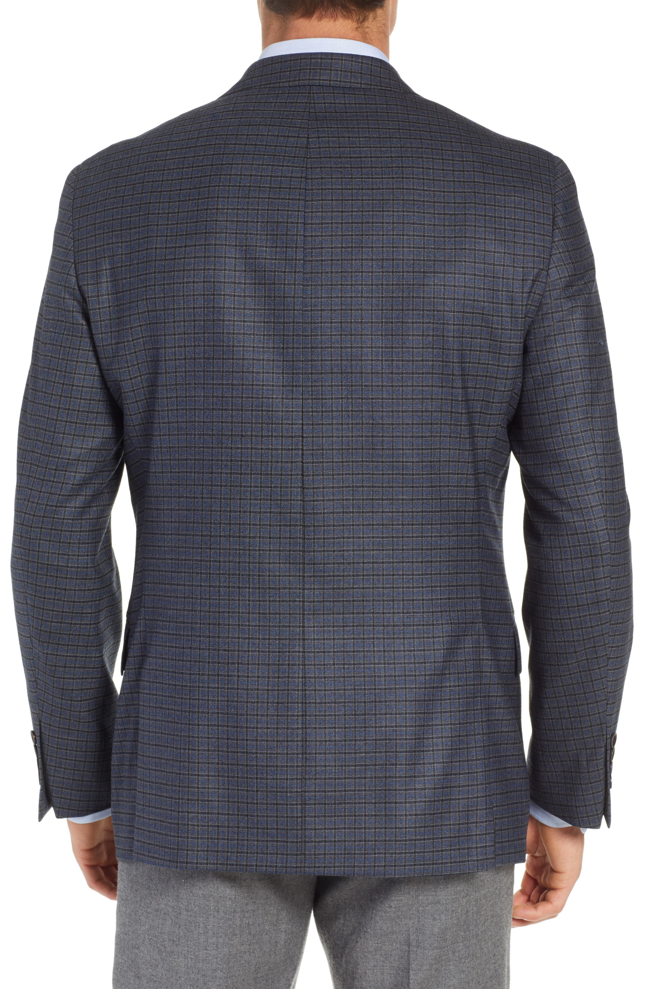 HART SCHAFFNER MARX,                             Classic Fit Stretch Check Wool Sport Coat,                             Alternate thumbnail 2, color,                             420