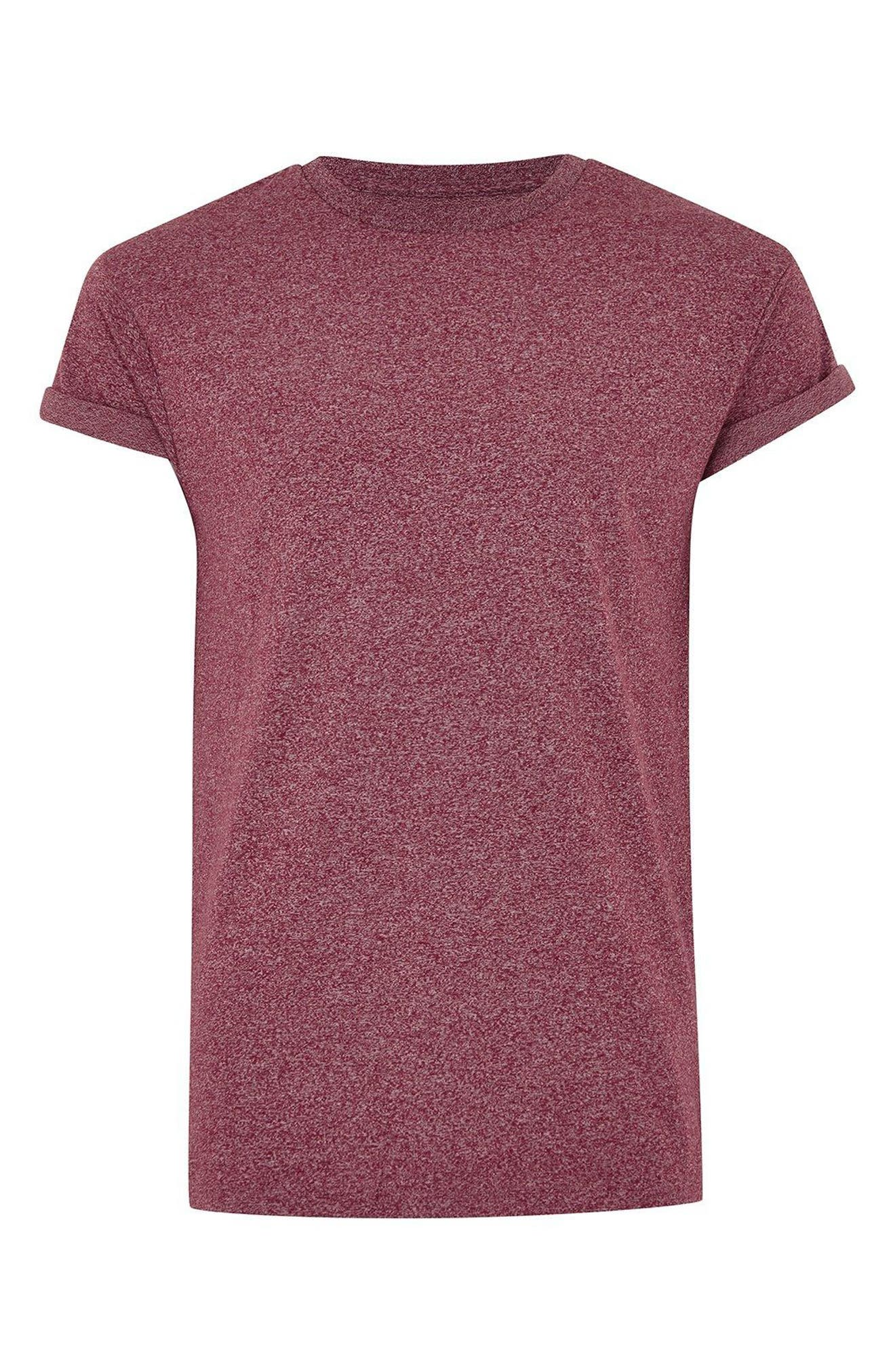 Muscle Fit Flecked T-Shirt,                             Alternate thumbnail 3, color,