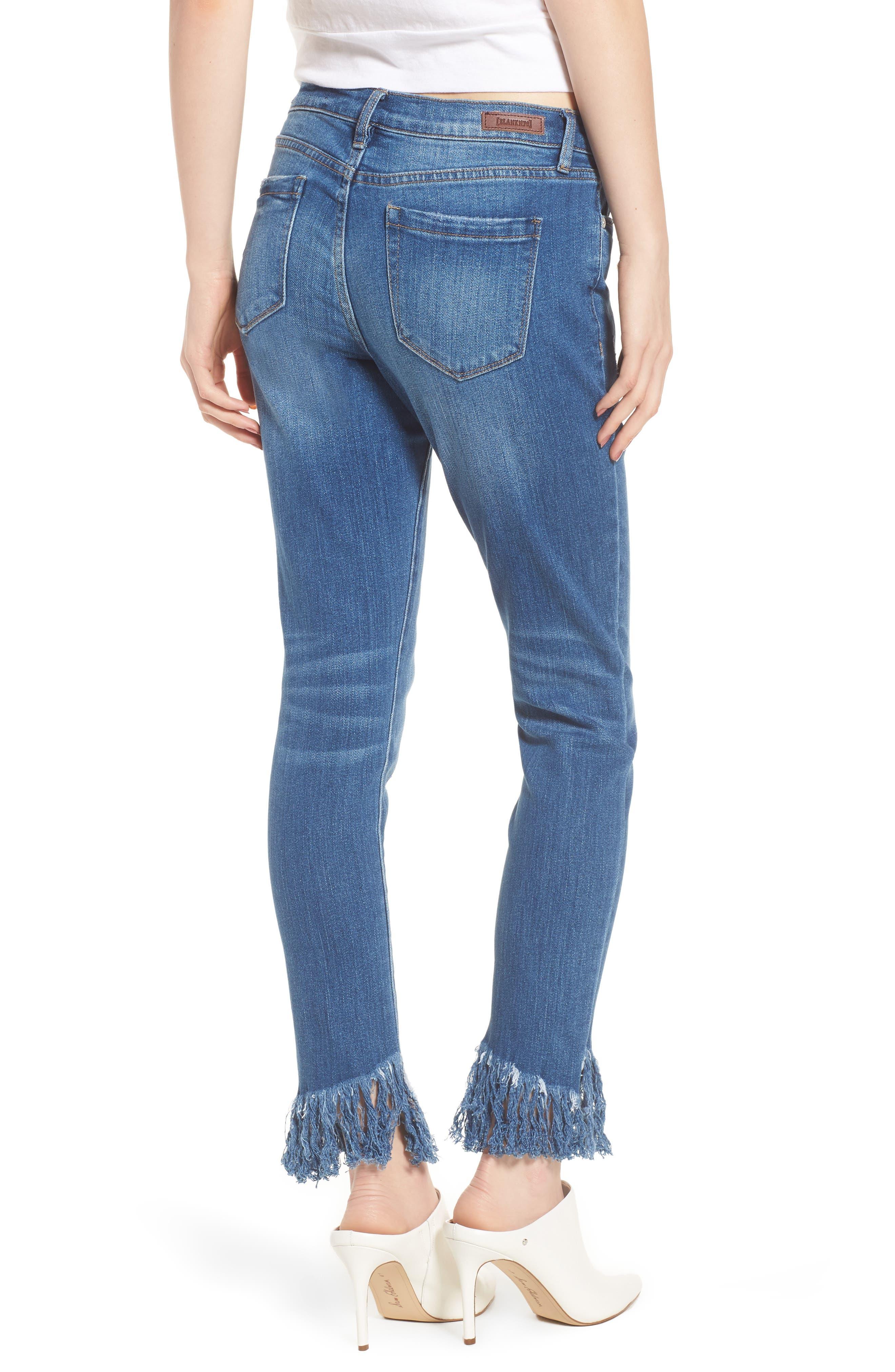 Low Key Judging Fray Hem Skinny Jeans,                             Alternate thumbnail 2, color,                             400