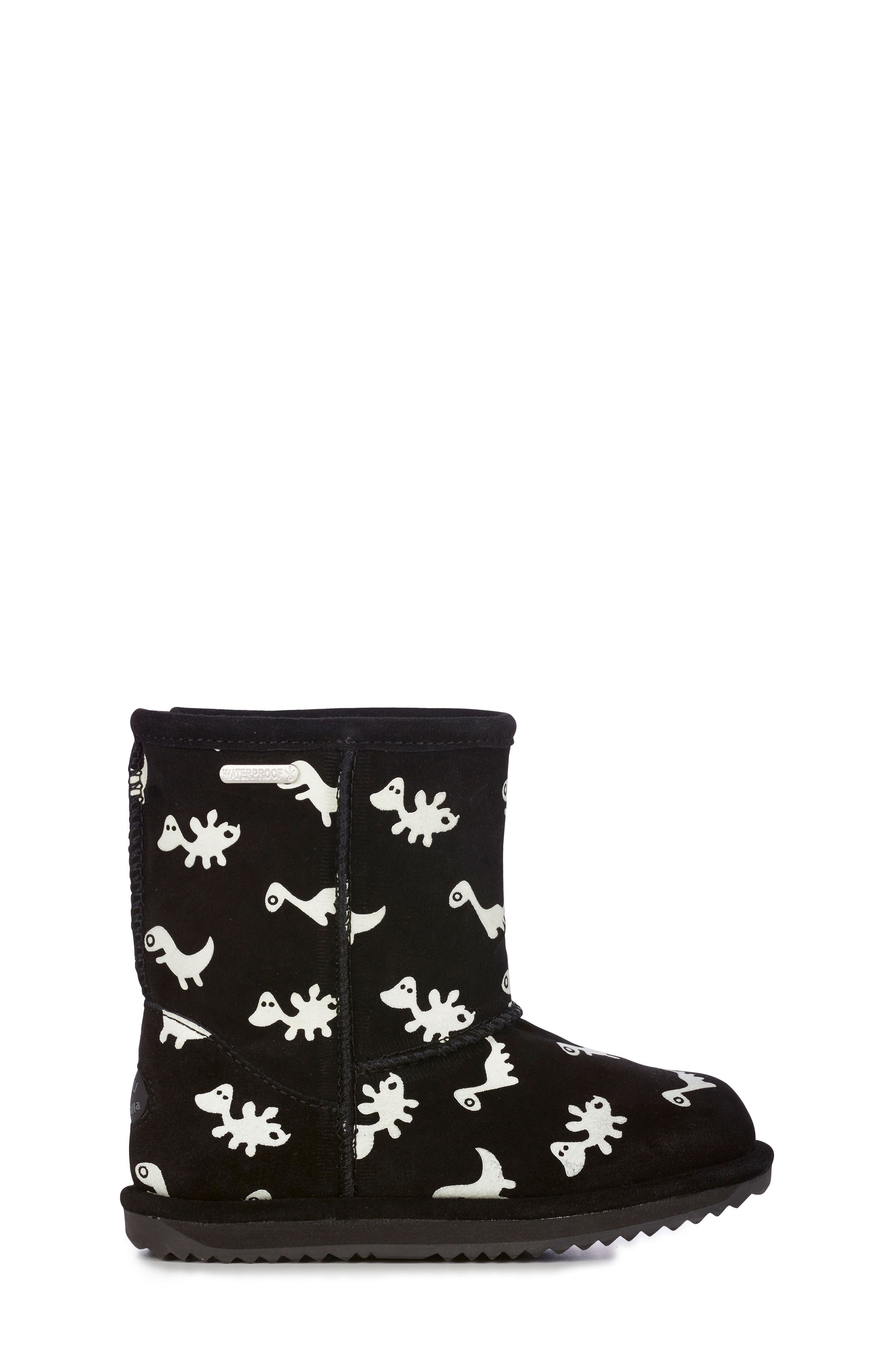 Animal Print Boots,                             Alternate thumbnail 3, color,                             BLACK