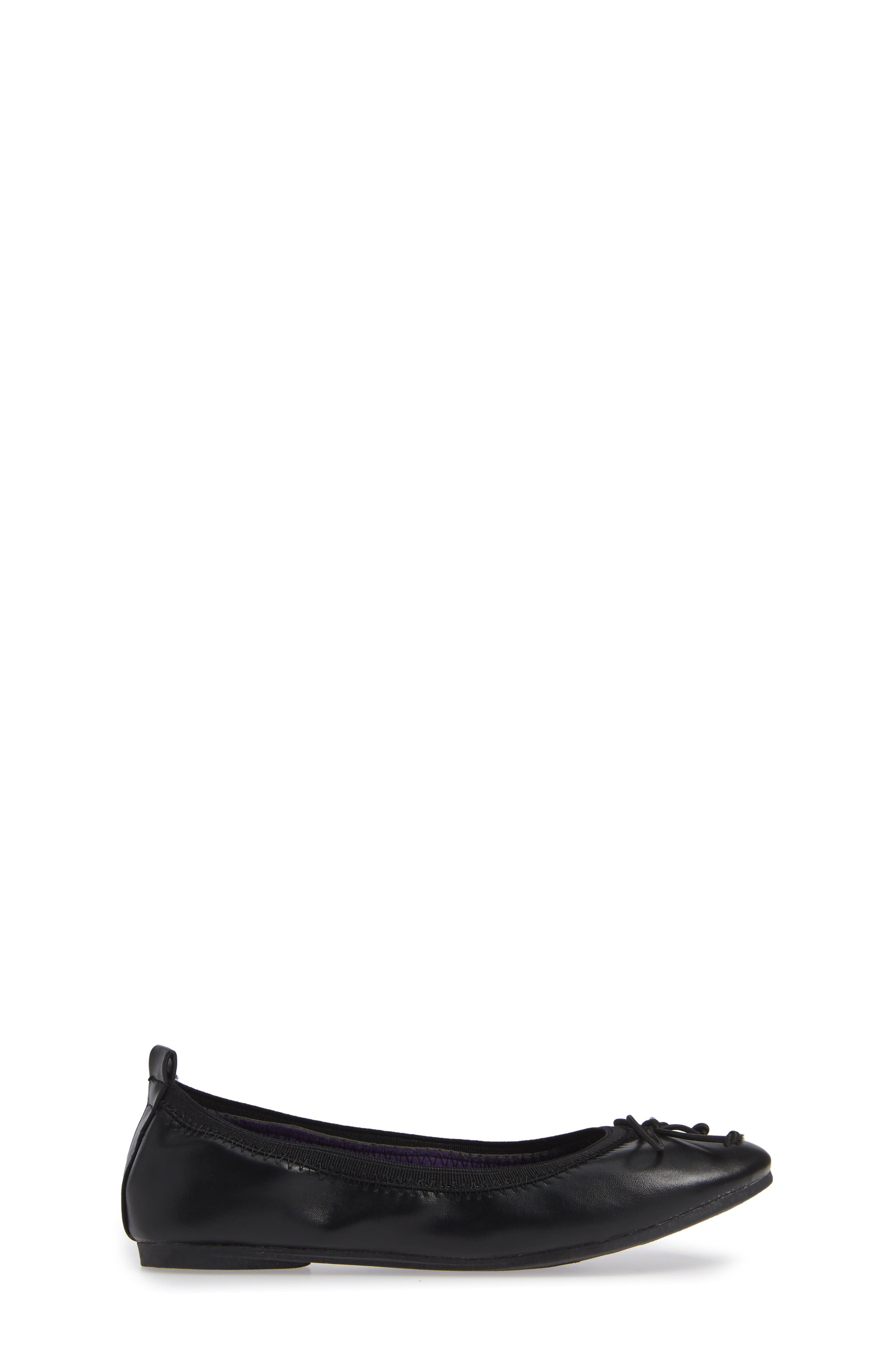 Copy Tap Ballet Flat,                             Alternate thumbnail 3, color,                             BLACK