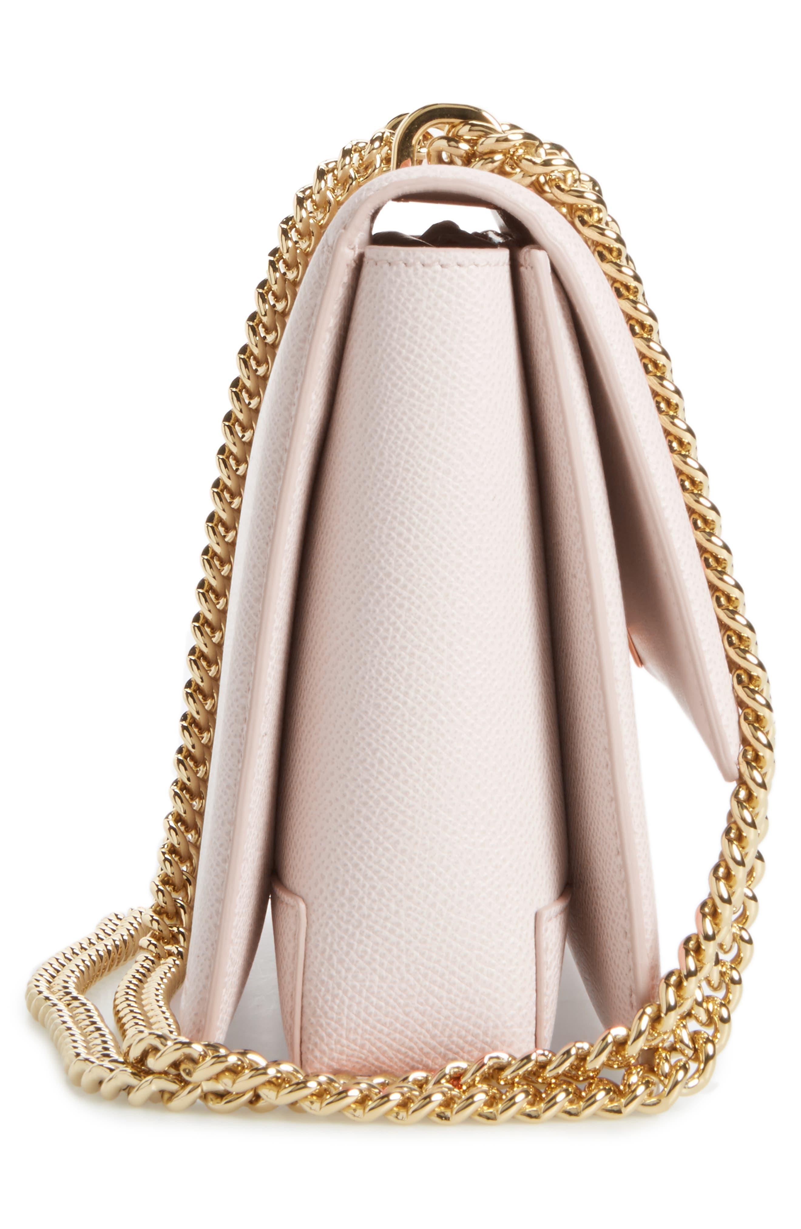Medium Ginny Leather Shoulder Bag,                             Alternate thumbnail 5, color,                             650