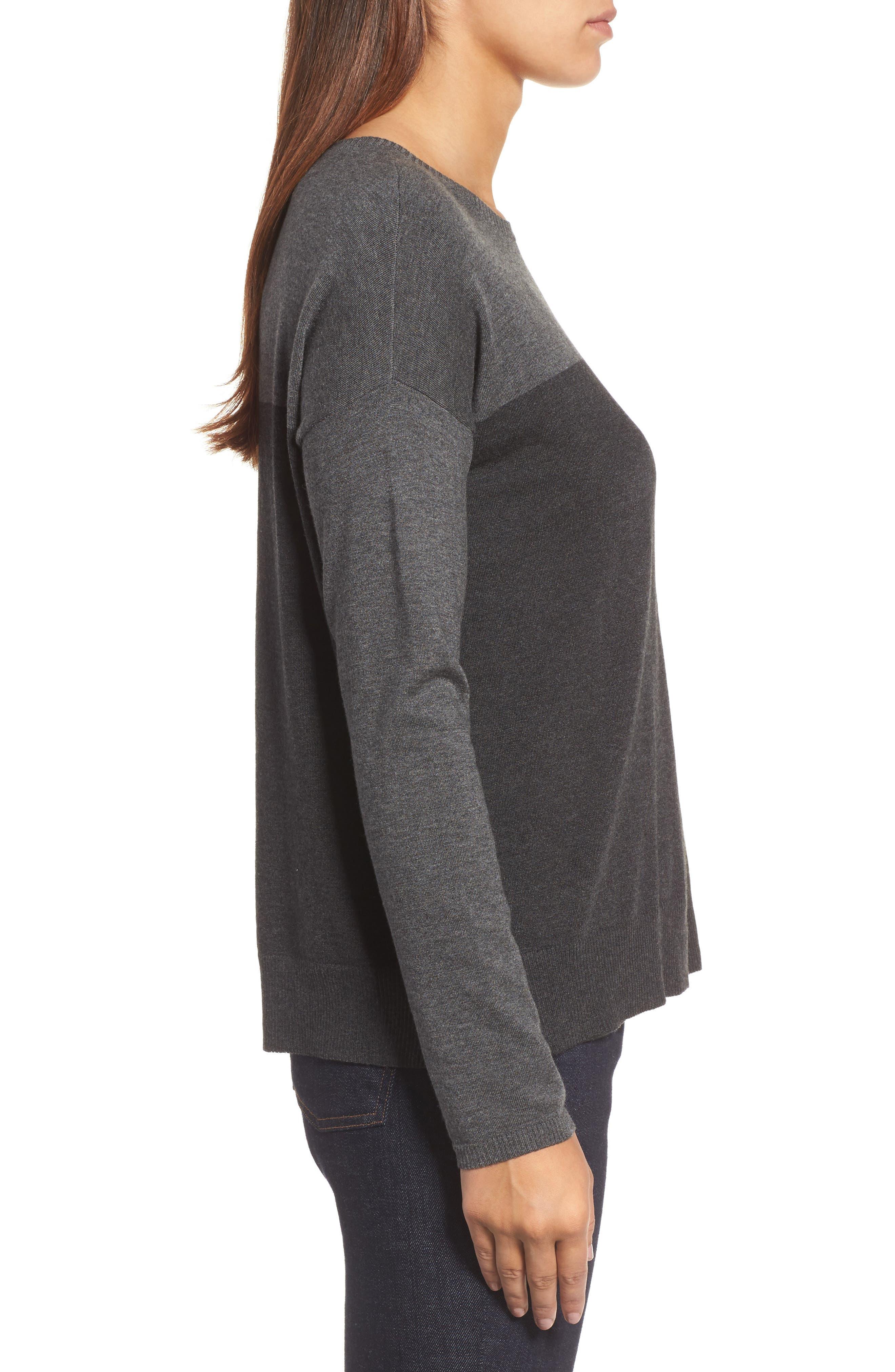 Round Neck Box Sweater,                             Alternate thumbnail 3, color,                             064