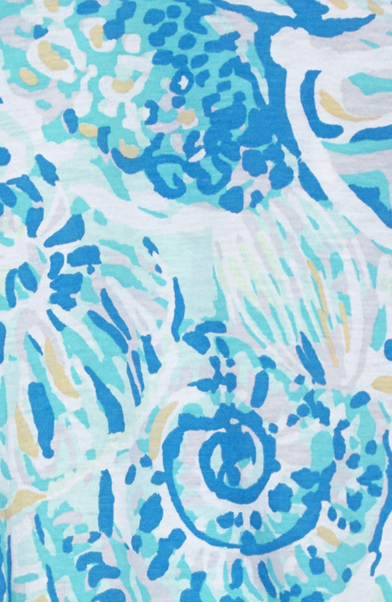 Mini Lindell Ruffle Dress,                             Alternate thumbnail 3, color,                             BENNET BLUE SALTY SEAS