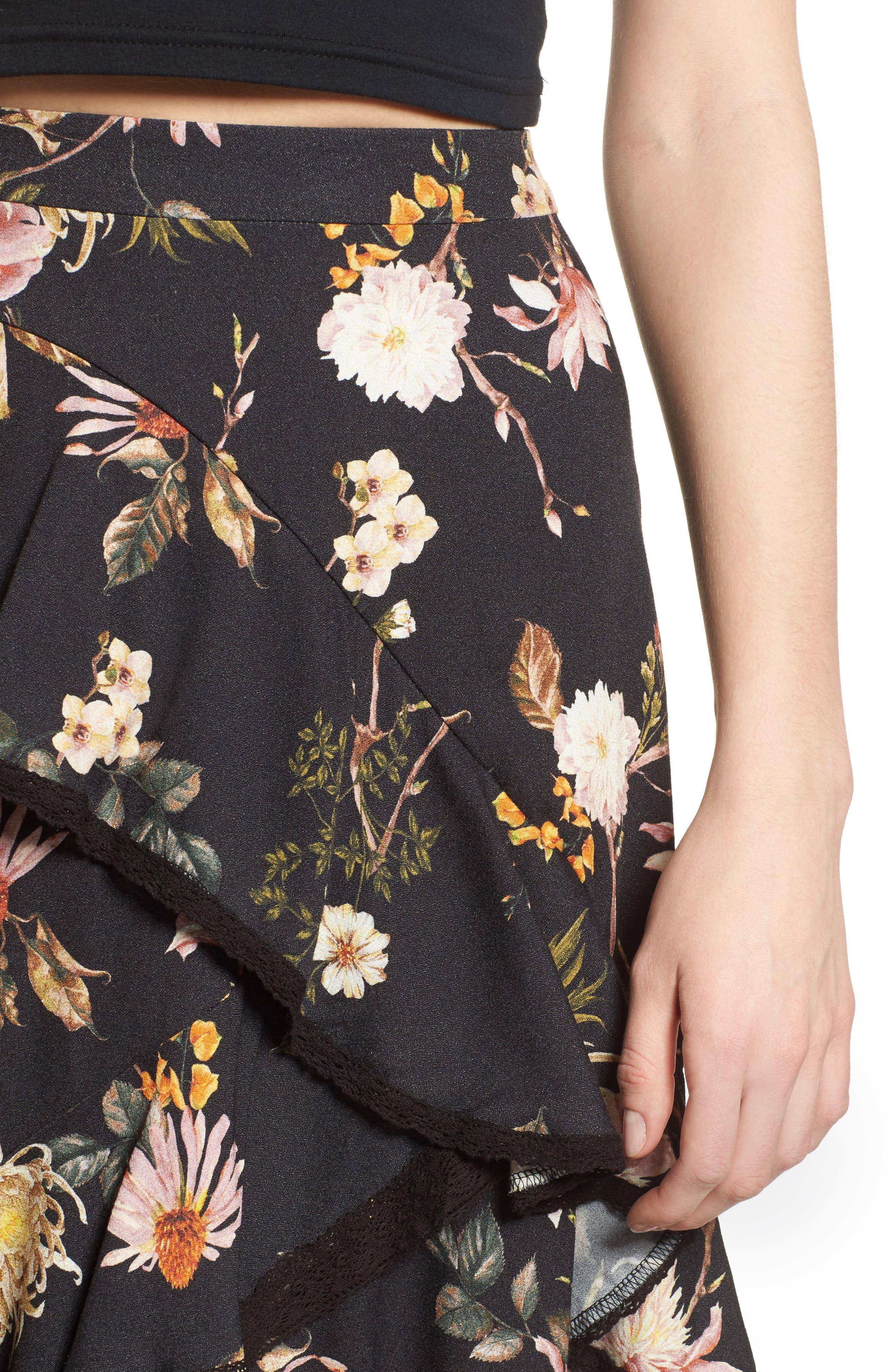Grace Asymmetrical Ruffle Skirt,                             Alternate thumbnail 8, color,