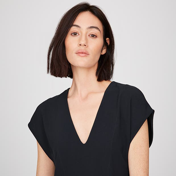 Pop-In@Nordstrom Welcomes Everlane: Women's Japanese GoWeave V-neck cocoon dress, $98.