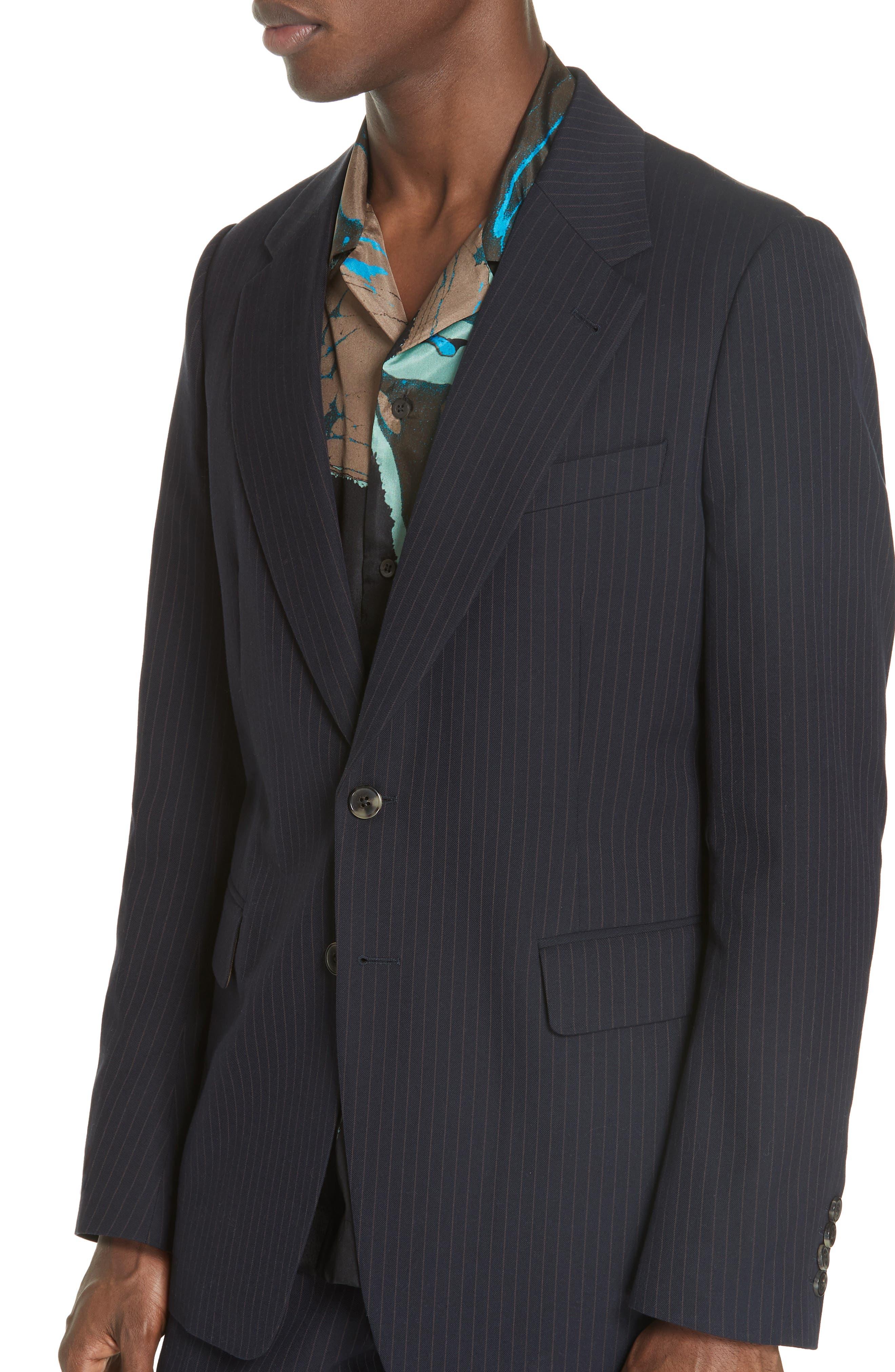 Burnes Pinstripe Jacket,                         Main,                         color, NAVY 509