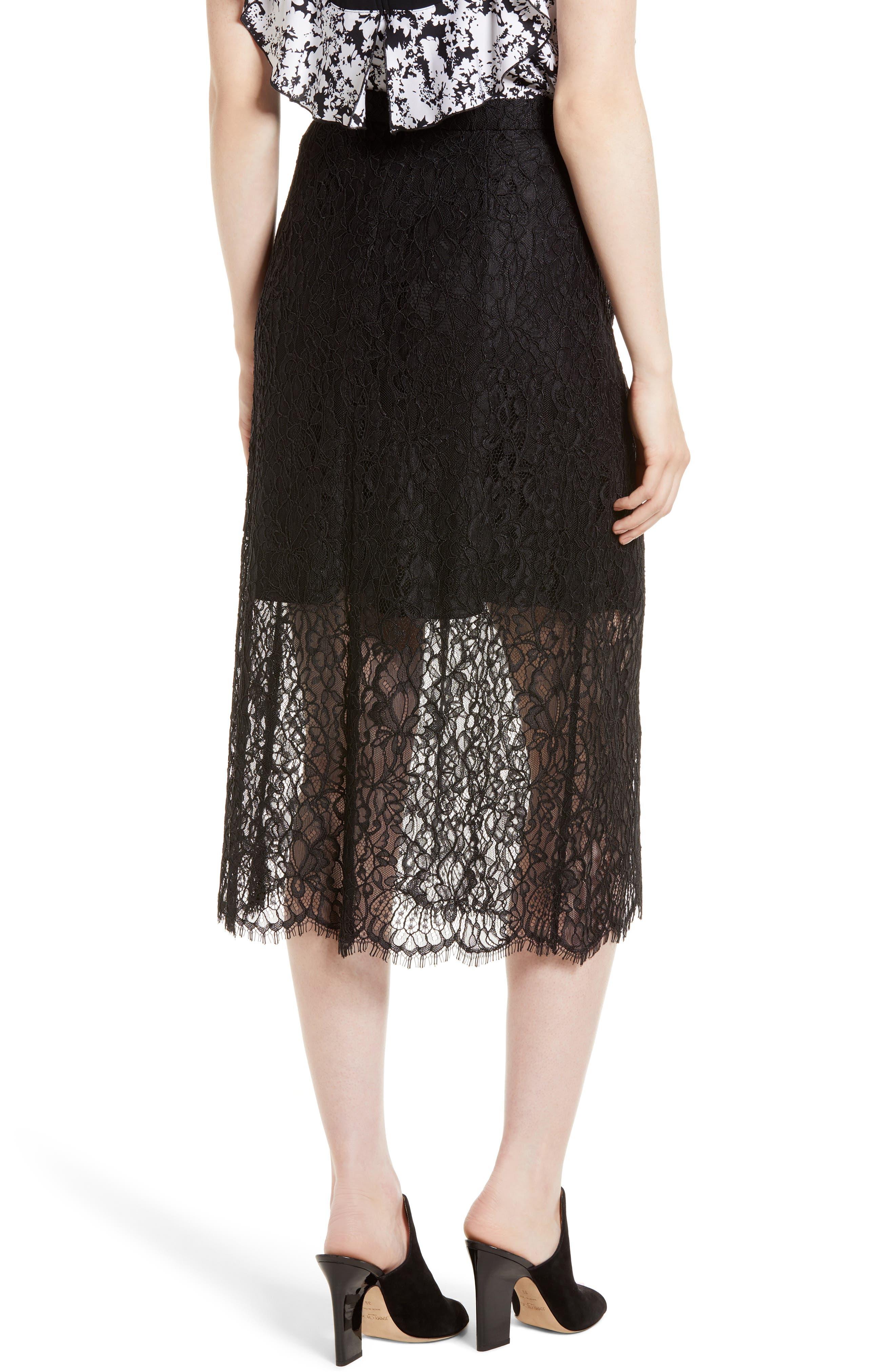 Lace Midi Skirt,                             Alternate thumbnail 2, color,