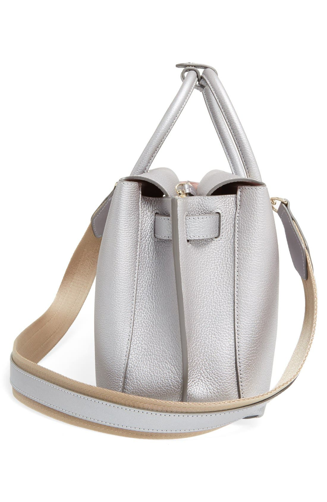 Medium Milla Leather Tote,                             Alternate thumbnail 9, color,                             045