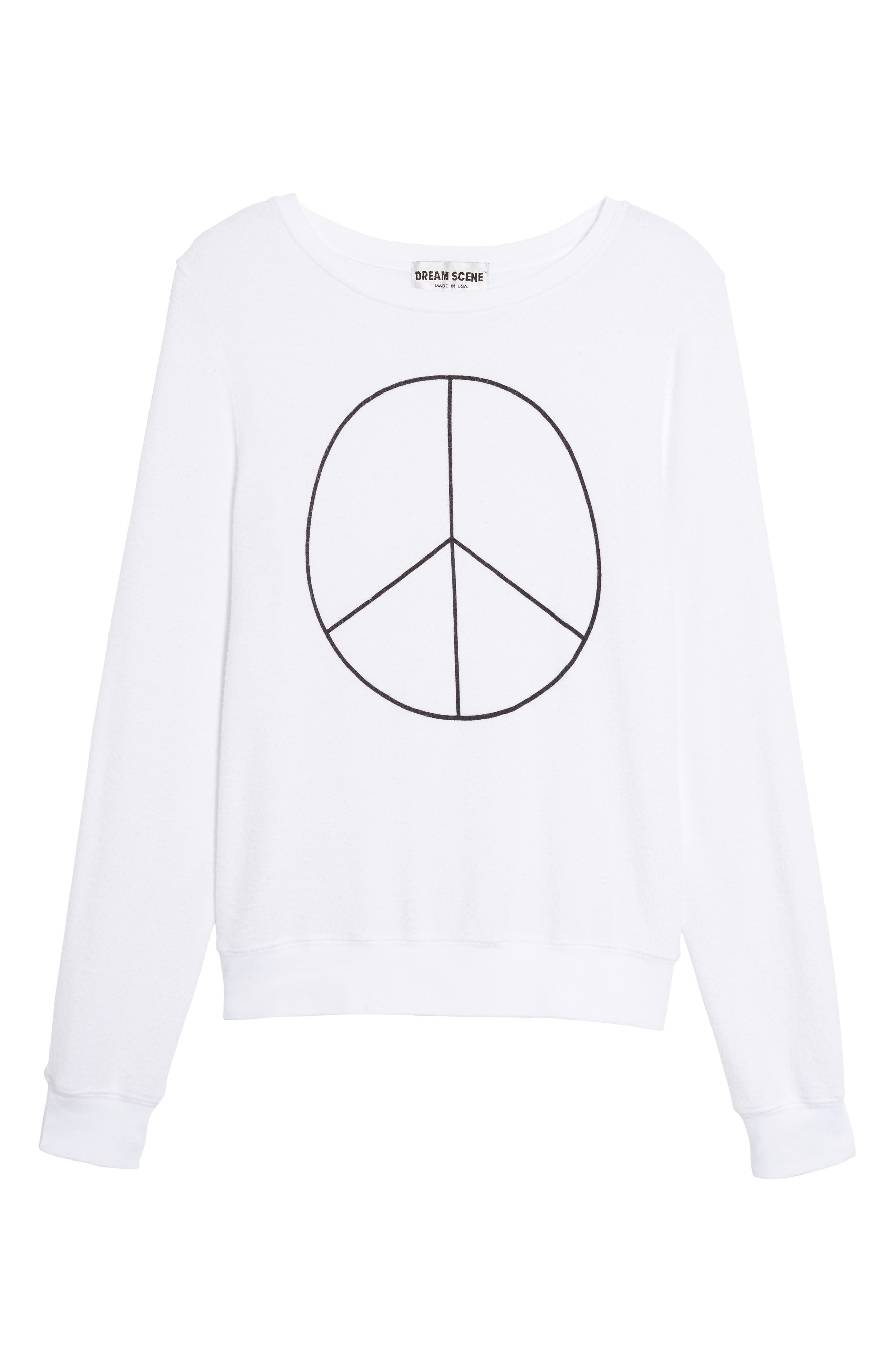 Peace Sweatshirt,                             Alternate thumbnail 6, color,                             100