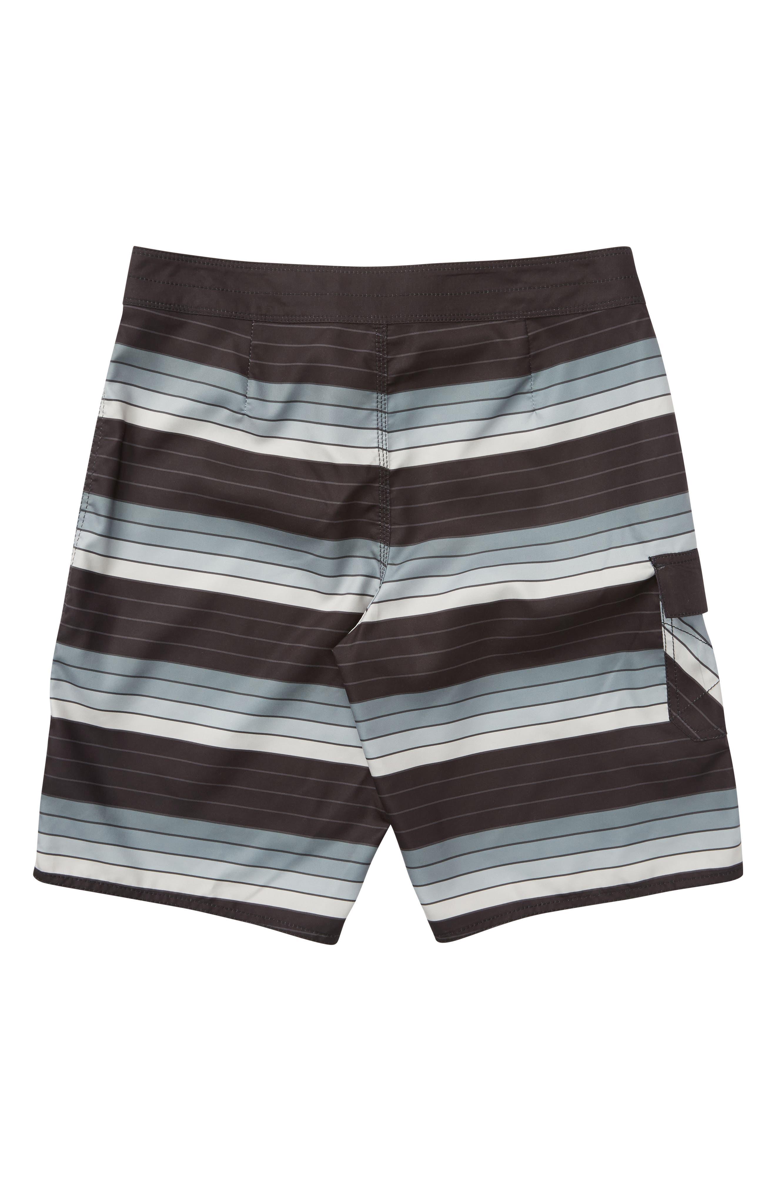All Day OG Stripe Board Shorts,                             Alternate thumbnail 2, color,                             SILVER