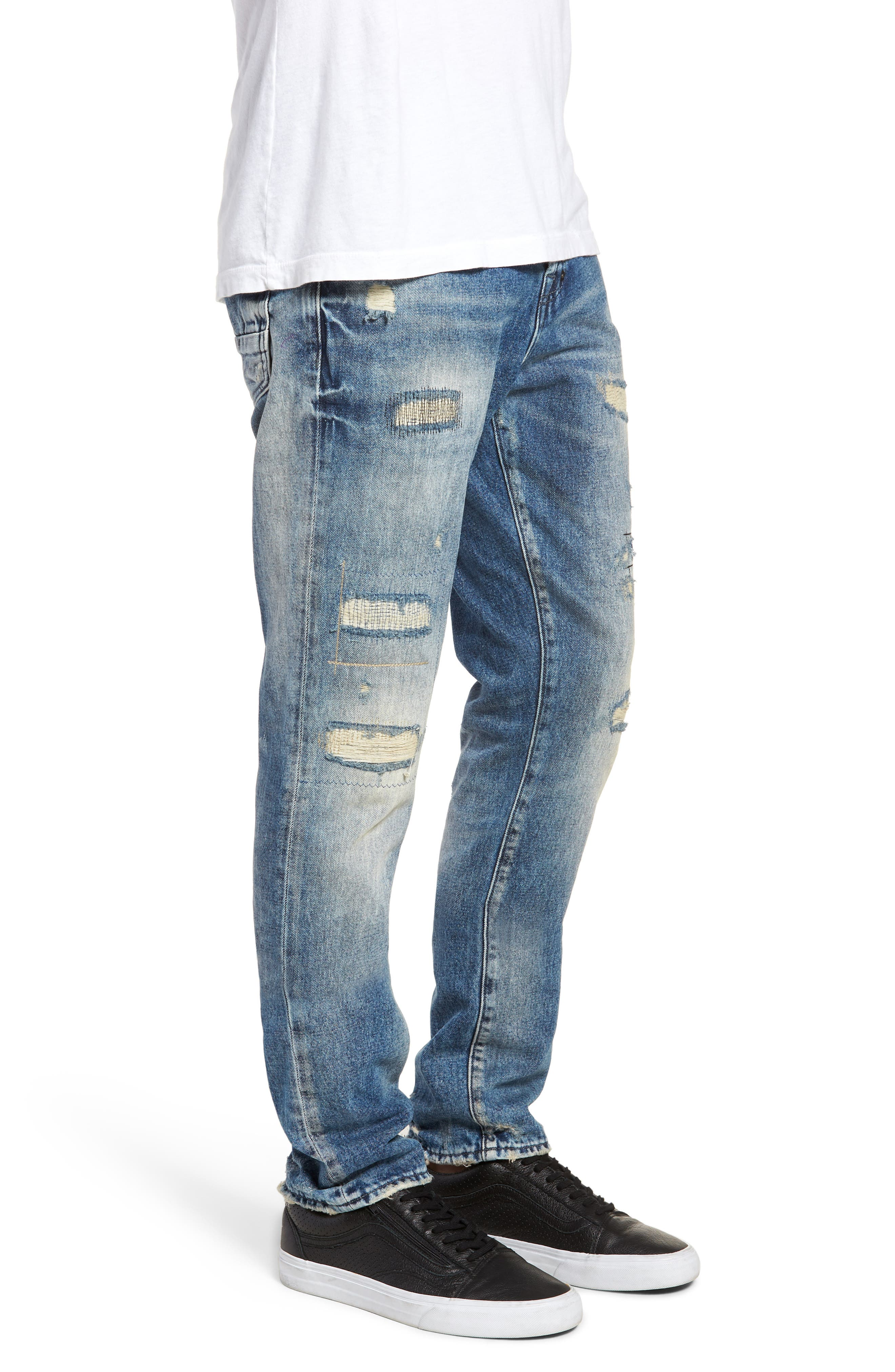 Demon Slim Straight Leg Jeans,                             Alternate thumbnail 3, color,                             MEXICO