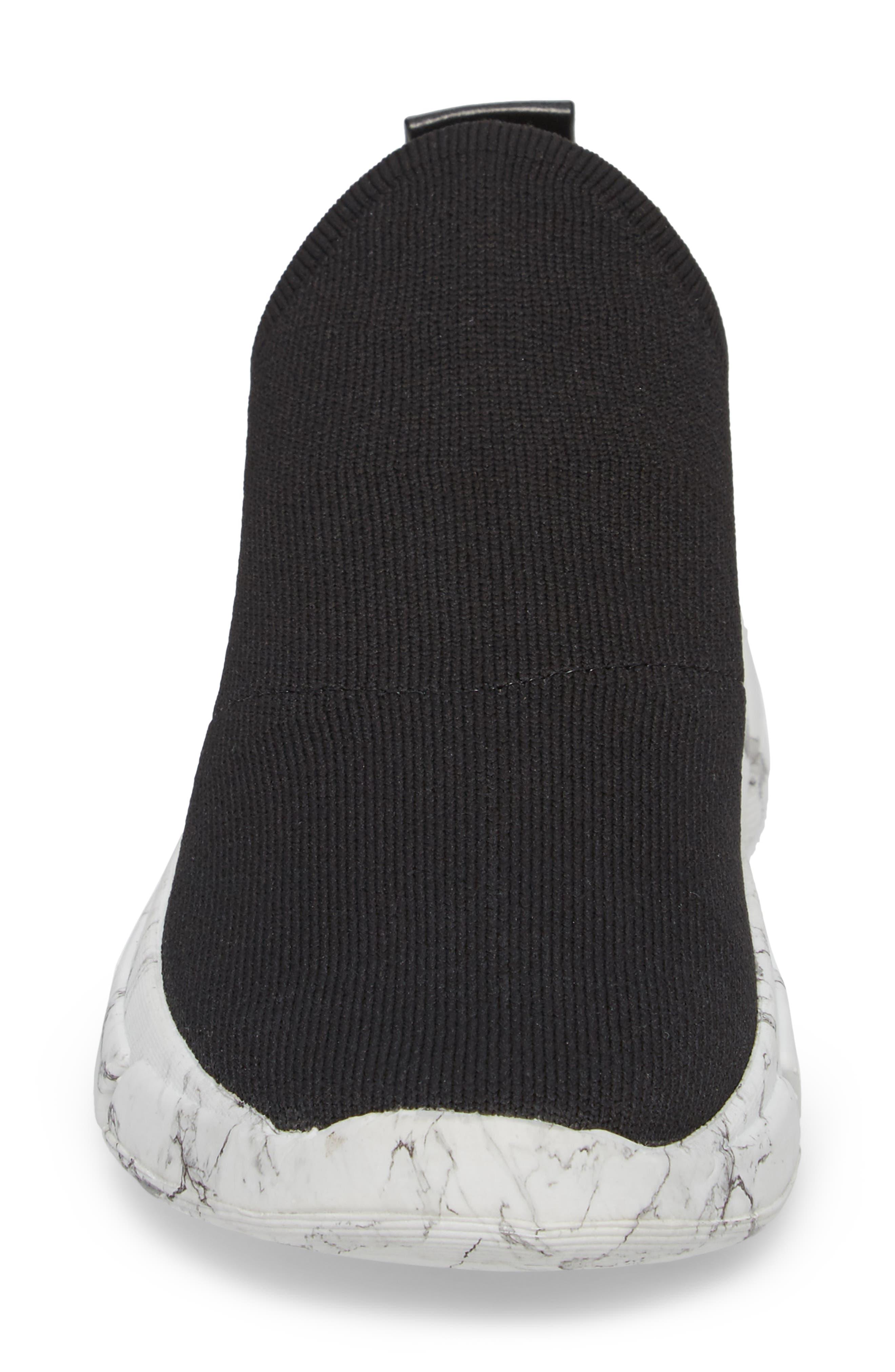 Caleb Knit Sneaker,                             Alternate thumbnail 4, color,                             BLACK