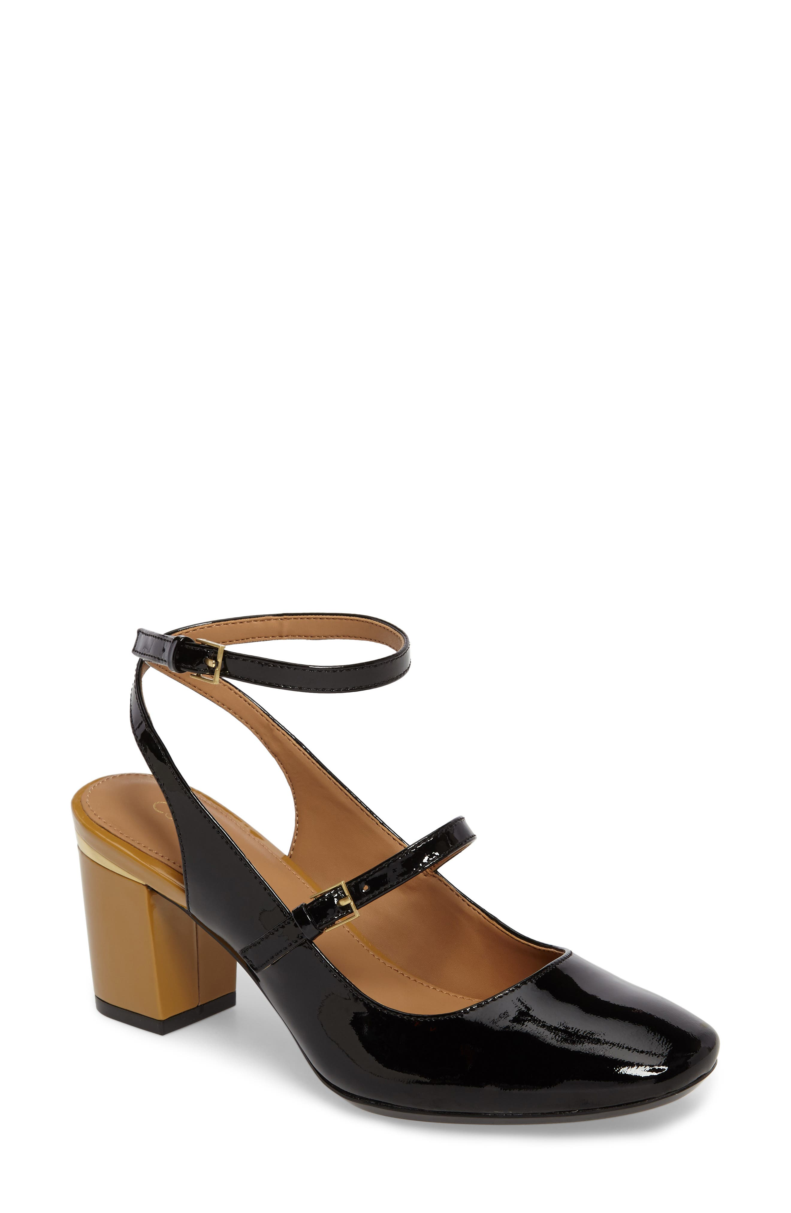 Cleary Wraparound Mary Jane Pump,                         Main,                         color, 001