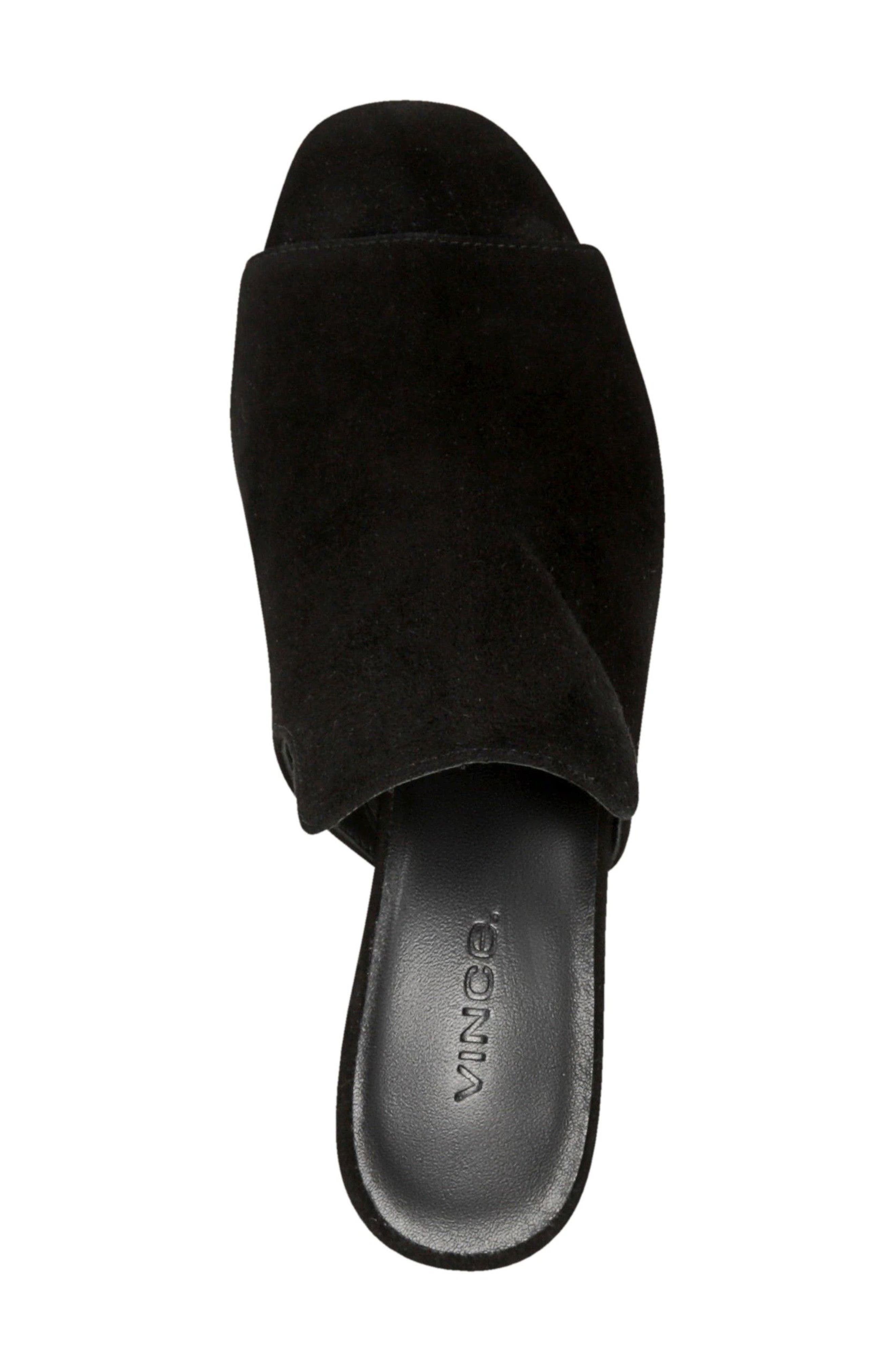 Tanay Loafer Mule,                             Alternate thumbnail 5, color,                             BLACK SUEDE LEATHER