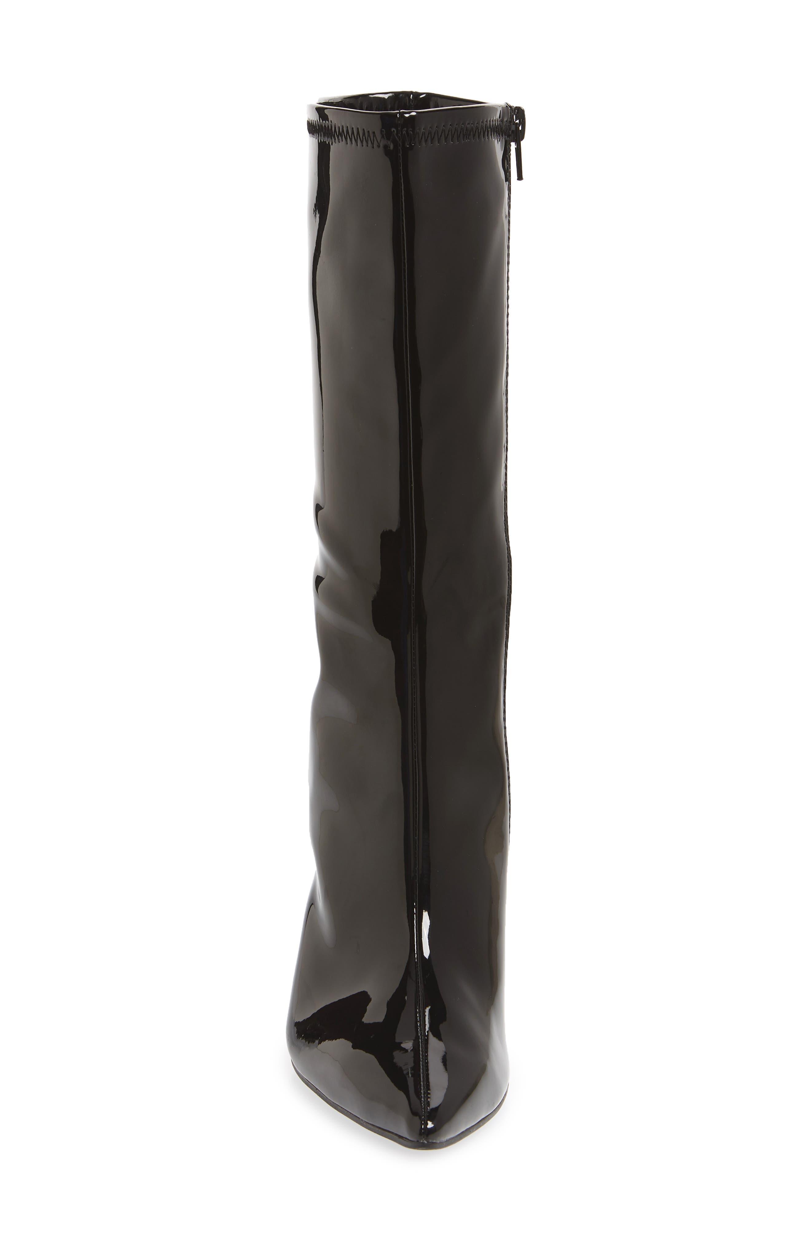 Siren Boot,                             Alternate thumbnail 4, color,                             BLACK FAUX PATENT
