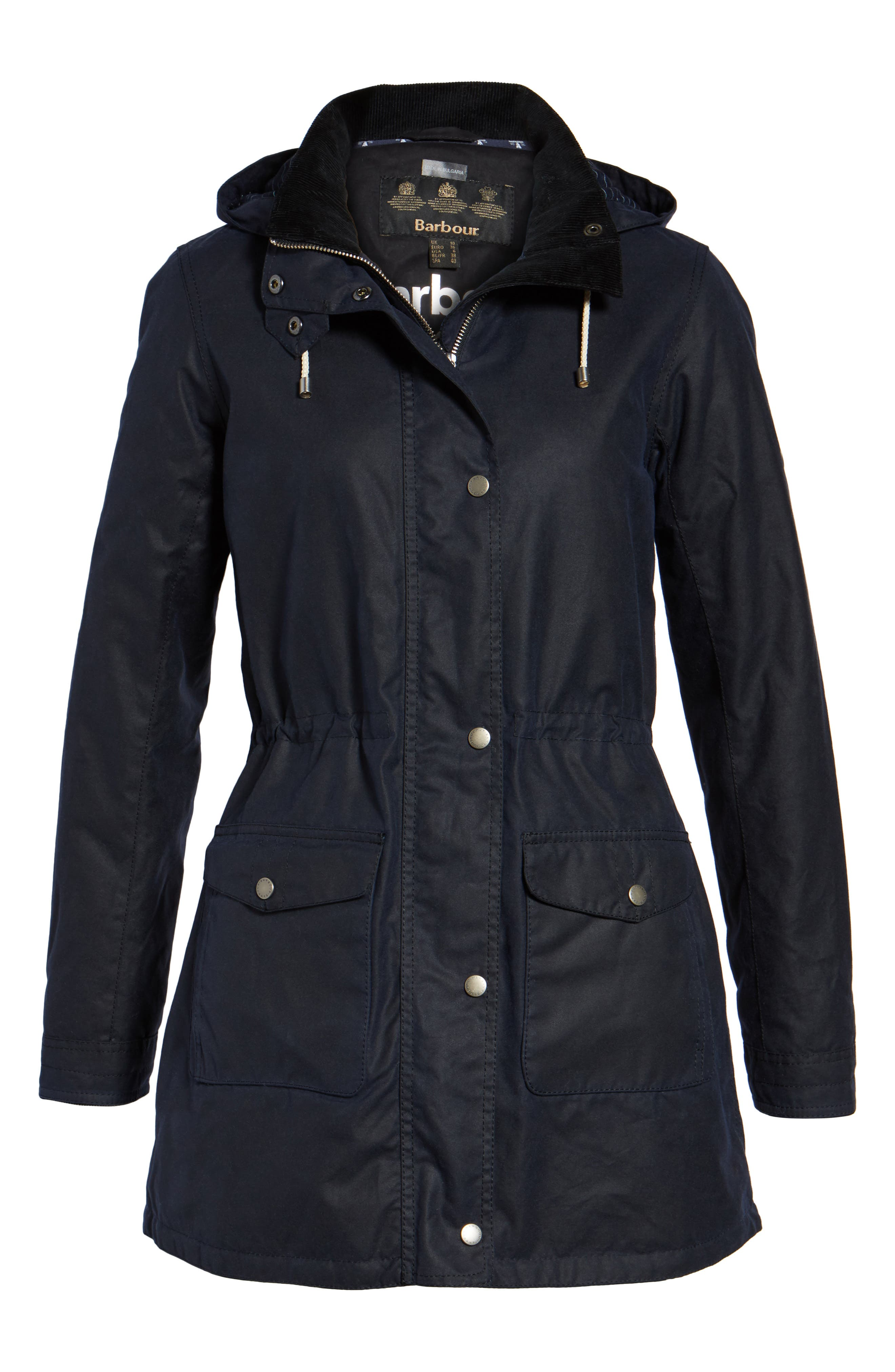 Selsey Waxed Canvas Hooded Jacket,                             Alternate thumbnail 5, color,                             410