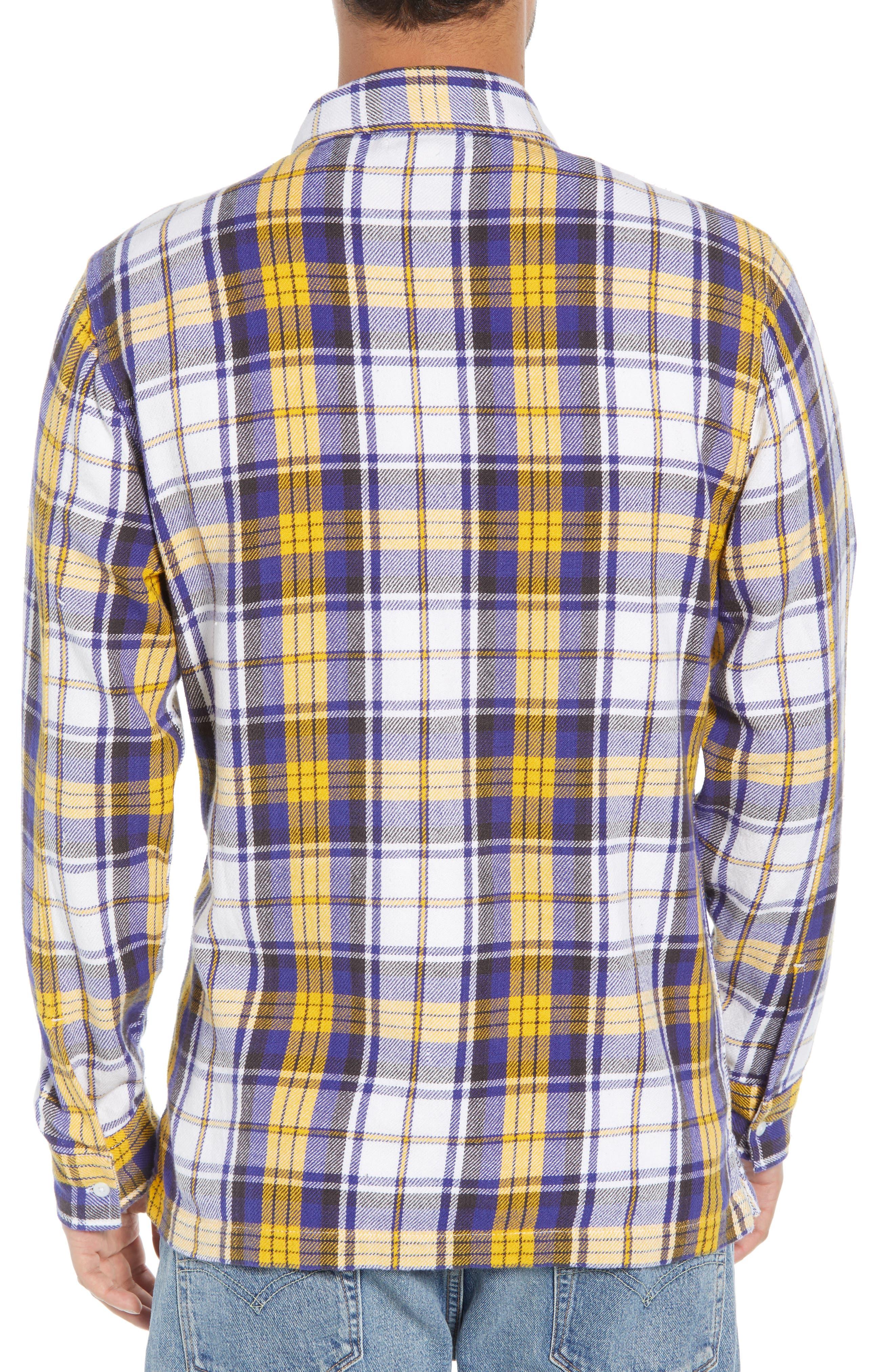 Zip Front Flannel Shirt Jacket,                             Alternate thumbnail 2, color,                             100