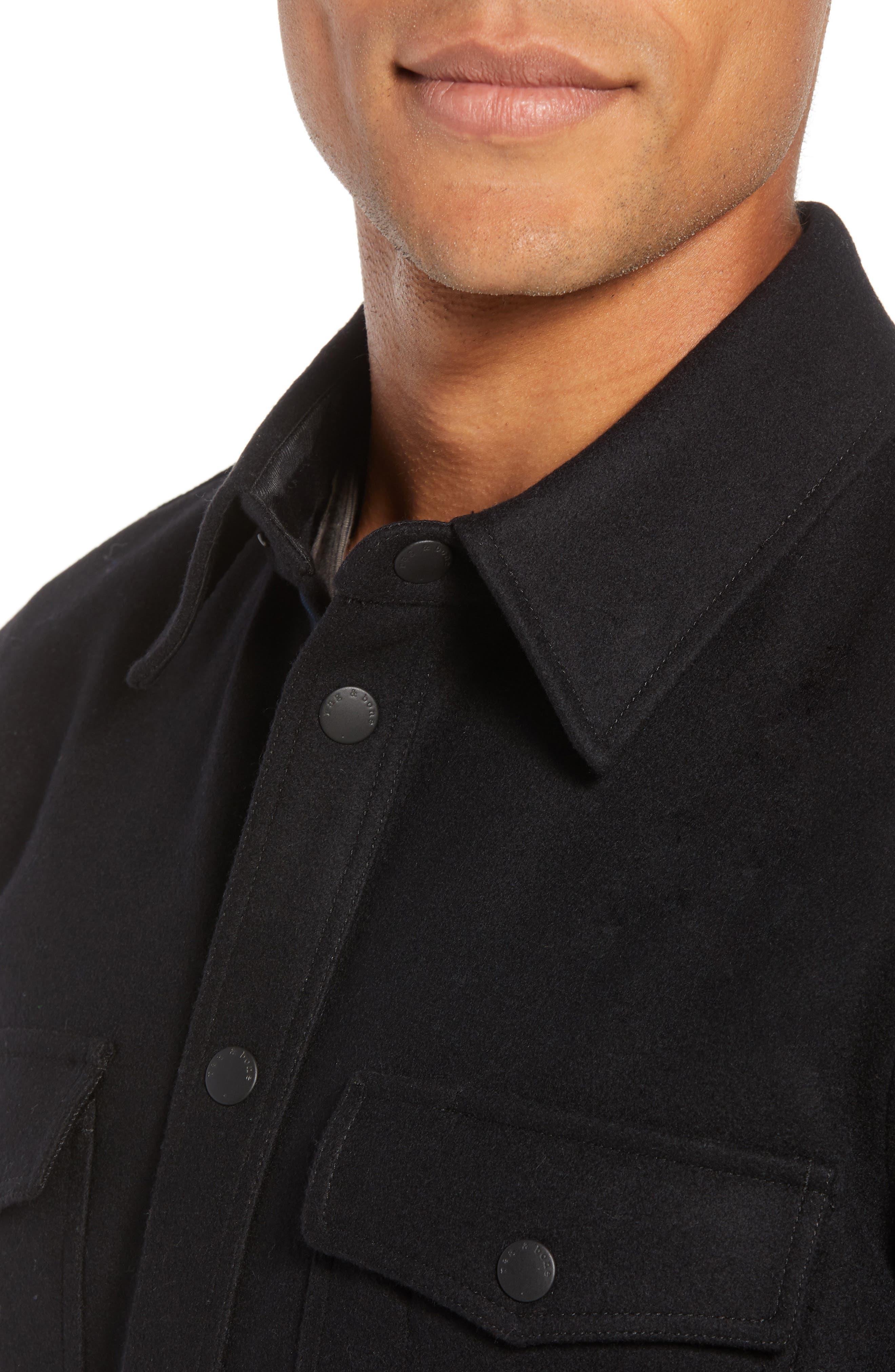 Jack Regular Fit Shirt Jacket,                             Alternate thumbnail 4, color,                             001