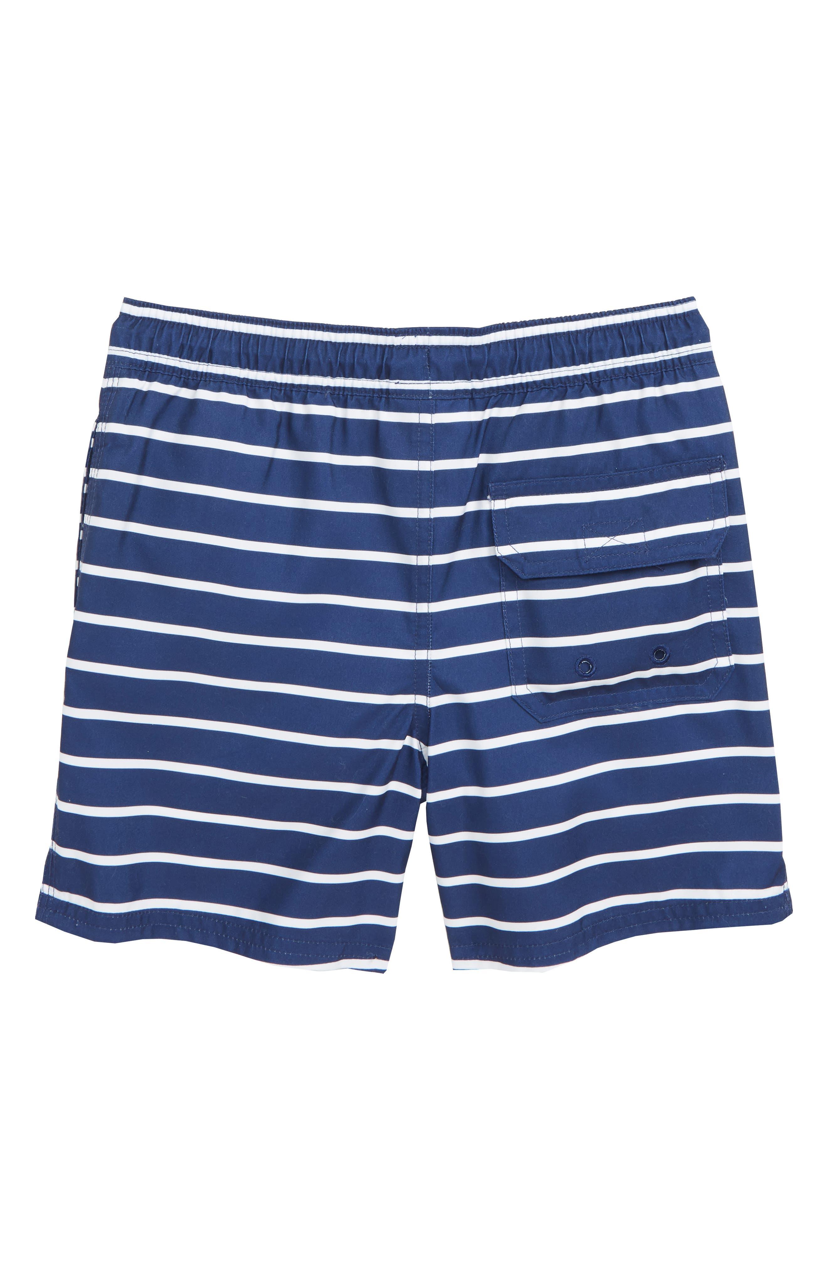 Break Stripe Chappy Swim Trunks,                             Alternate thumbnail 2, color,                             DEEP BAY