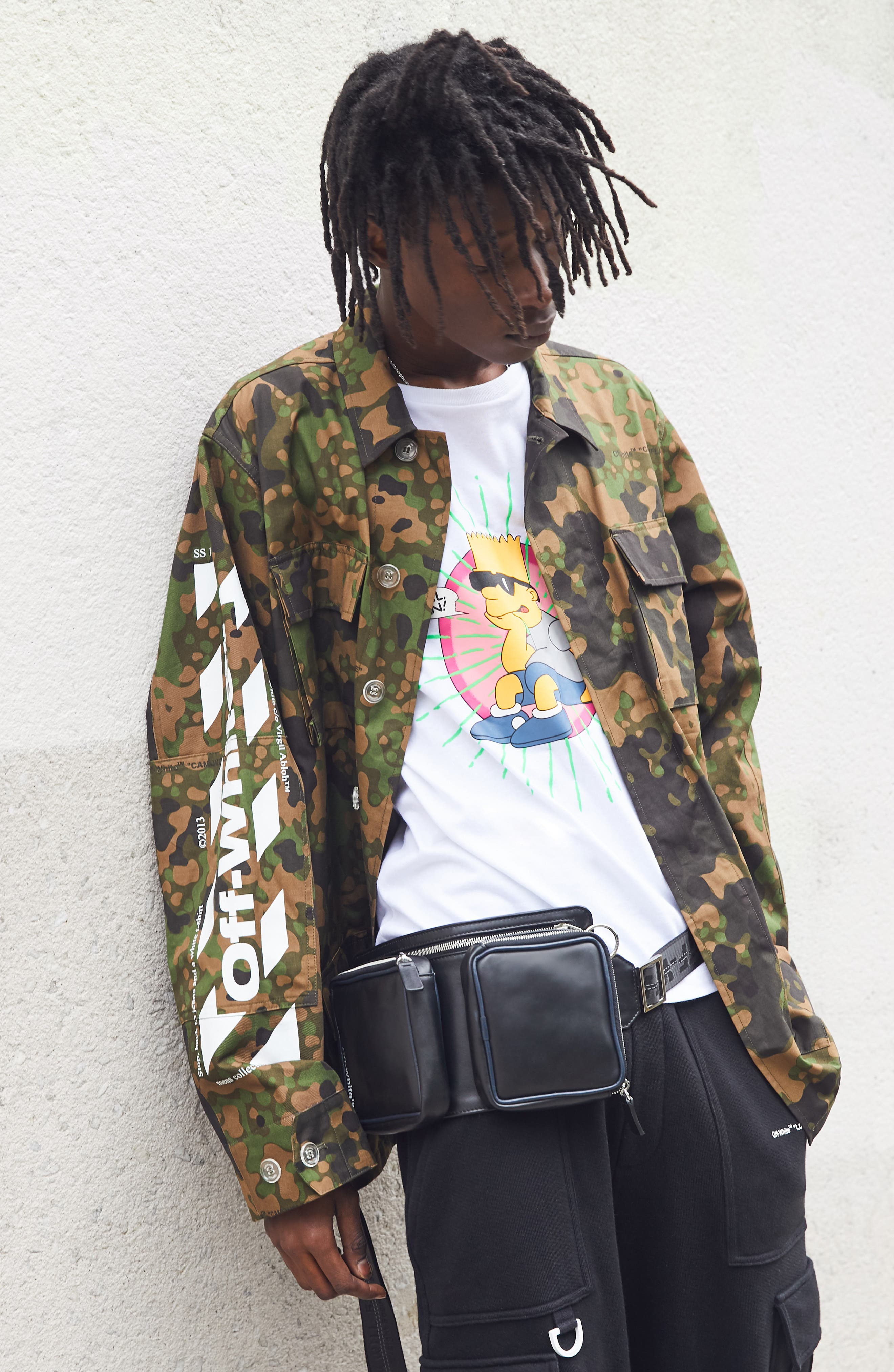 OFF-WHITE,                             Camo Field Jacket,                             Alternate thumbnail 7, color,                             CAMOU WHITE