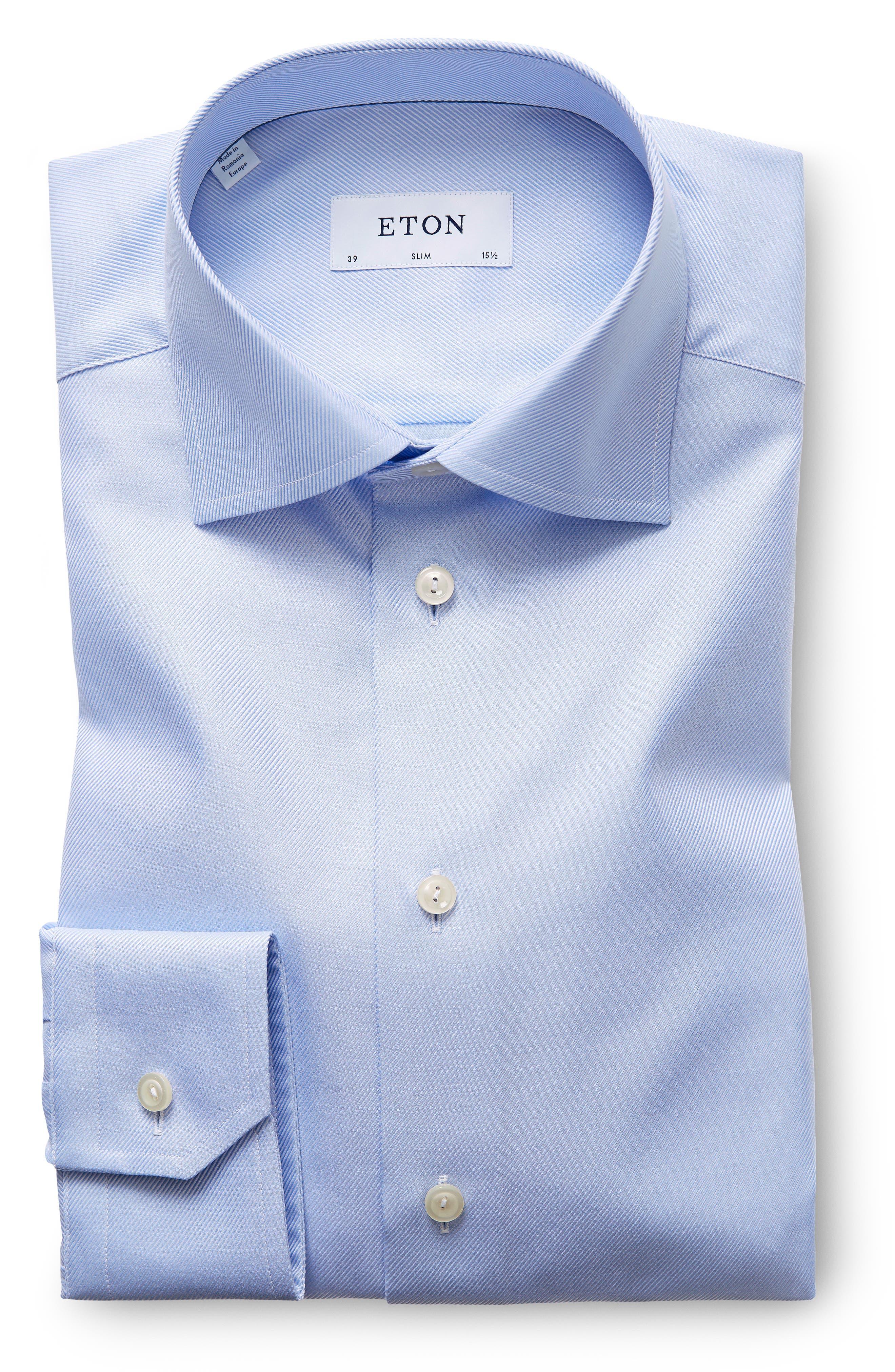 Slim Fit Non-Iron Dress Shirt,                             Alternate thumbnail 2, color,                             LIGHT BLUE