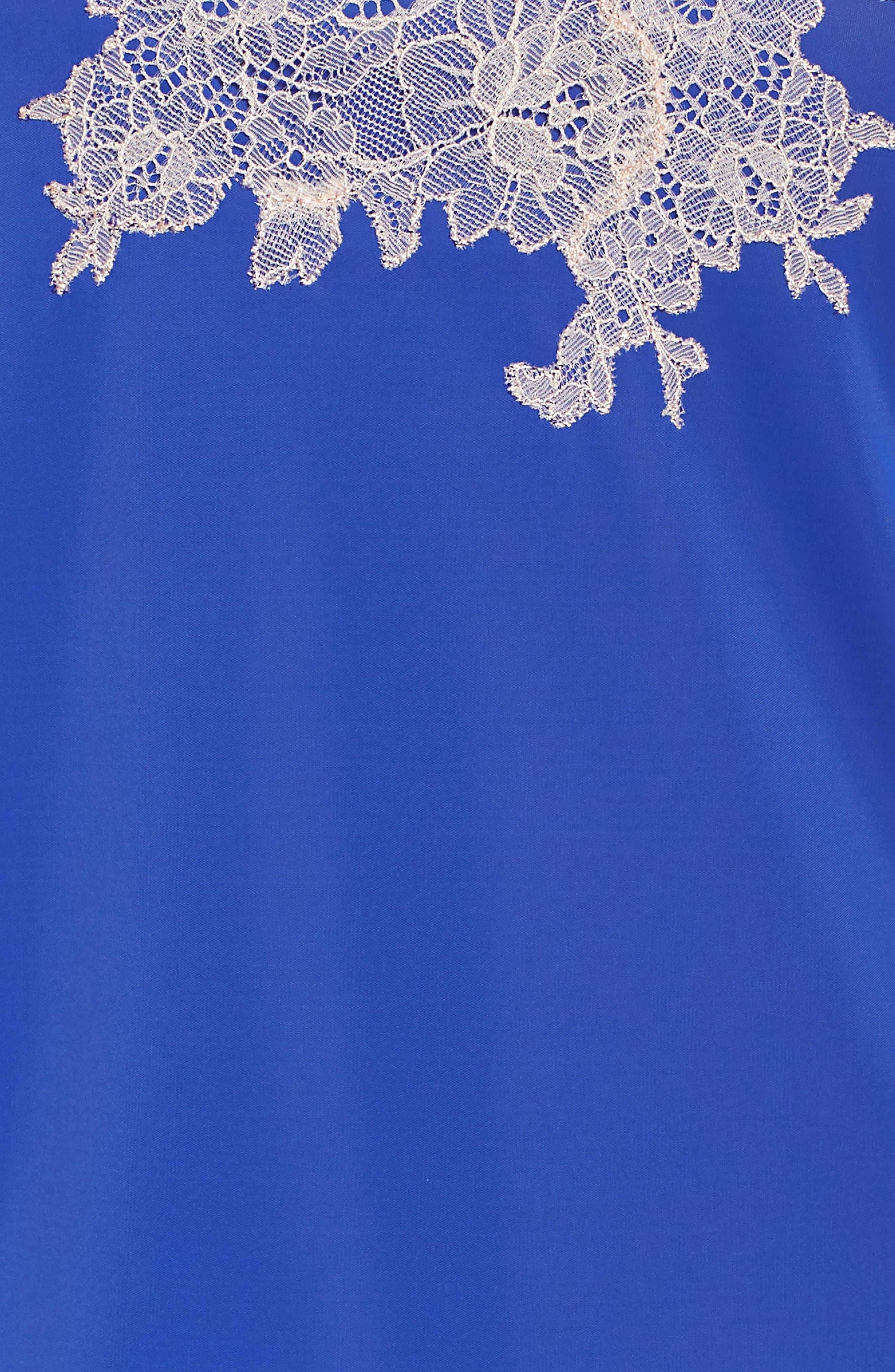 Enchant Lace Romper,                             Alternate thumbnail 5, color,                             COBALT/ CAM RSE LACE