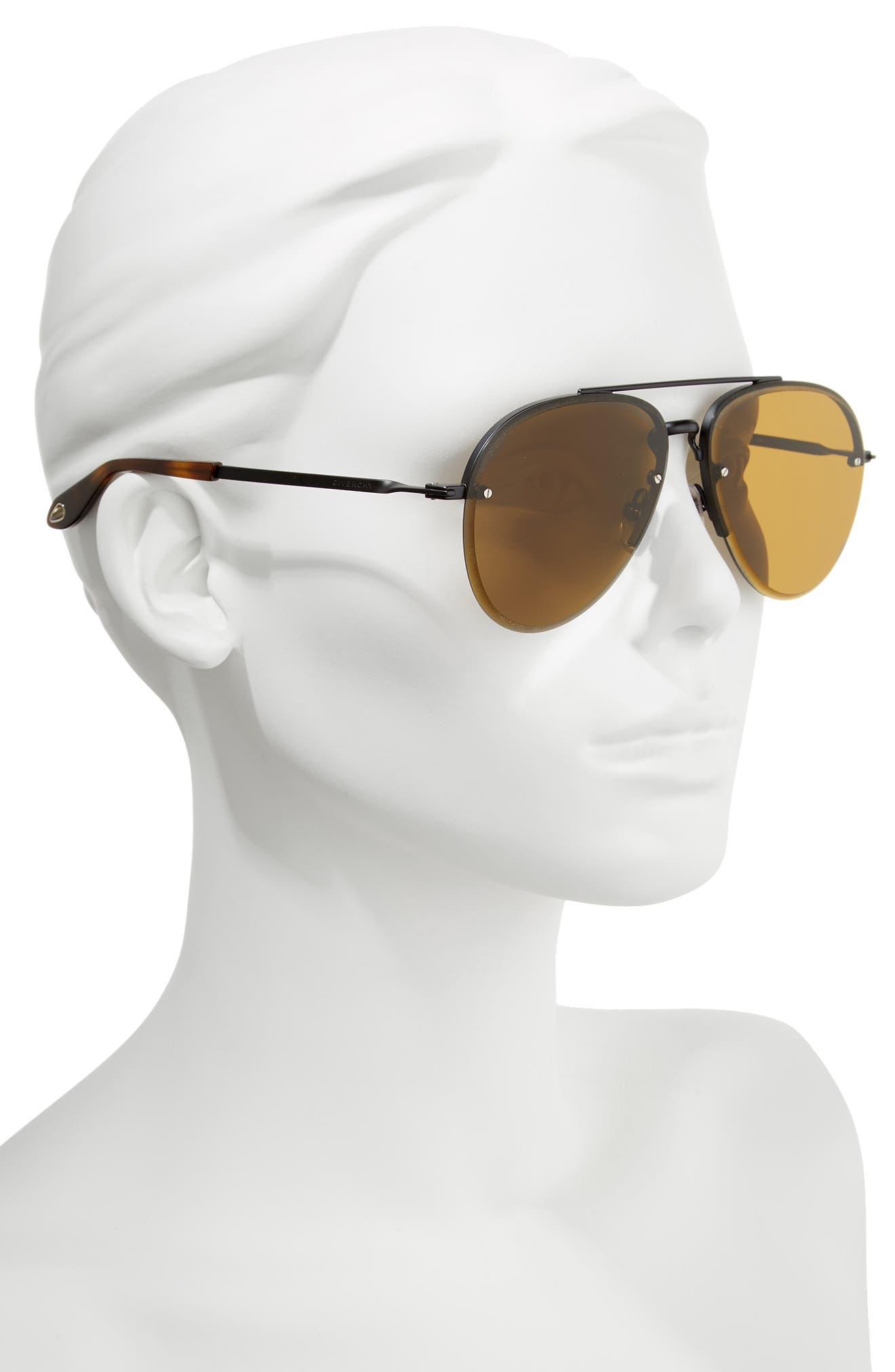62mm Oversize Aviator Sunglasses,                             Alternate thumbnail 2, color,                             001