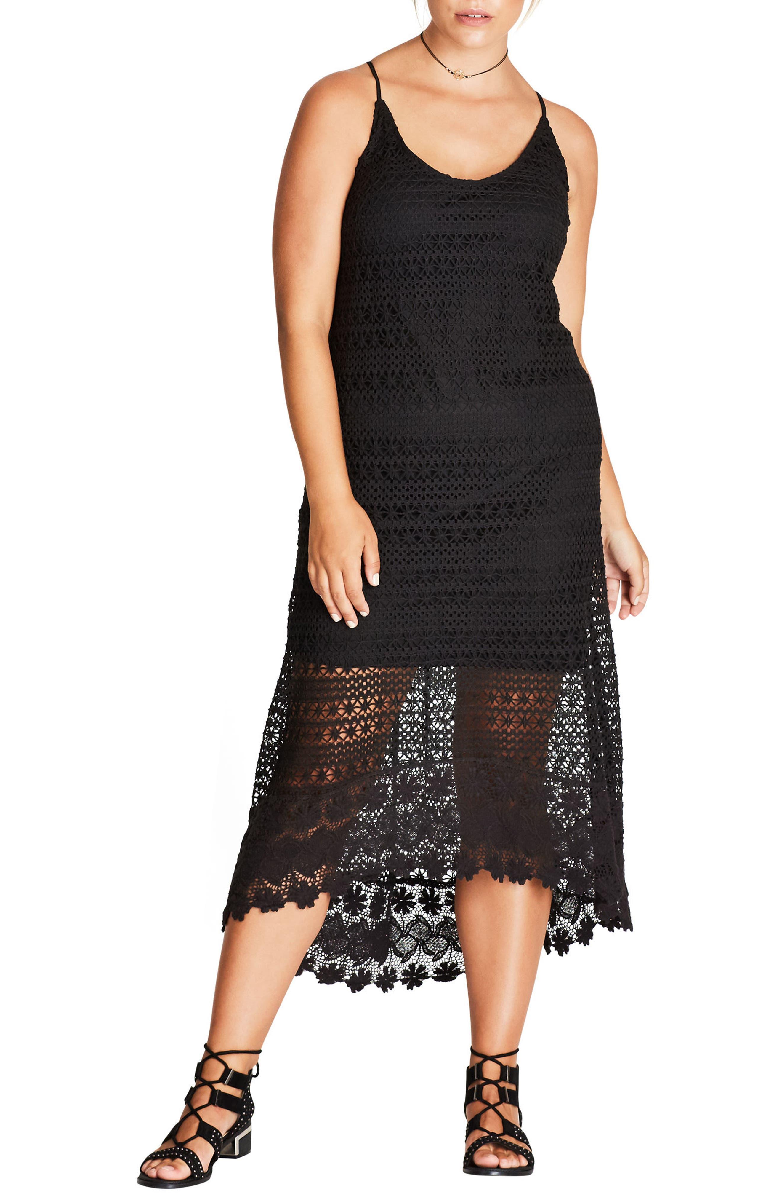Crochet Maxi Dress,                             Main thumbnail 1, color,