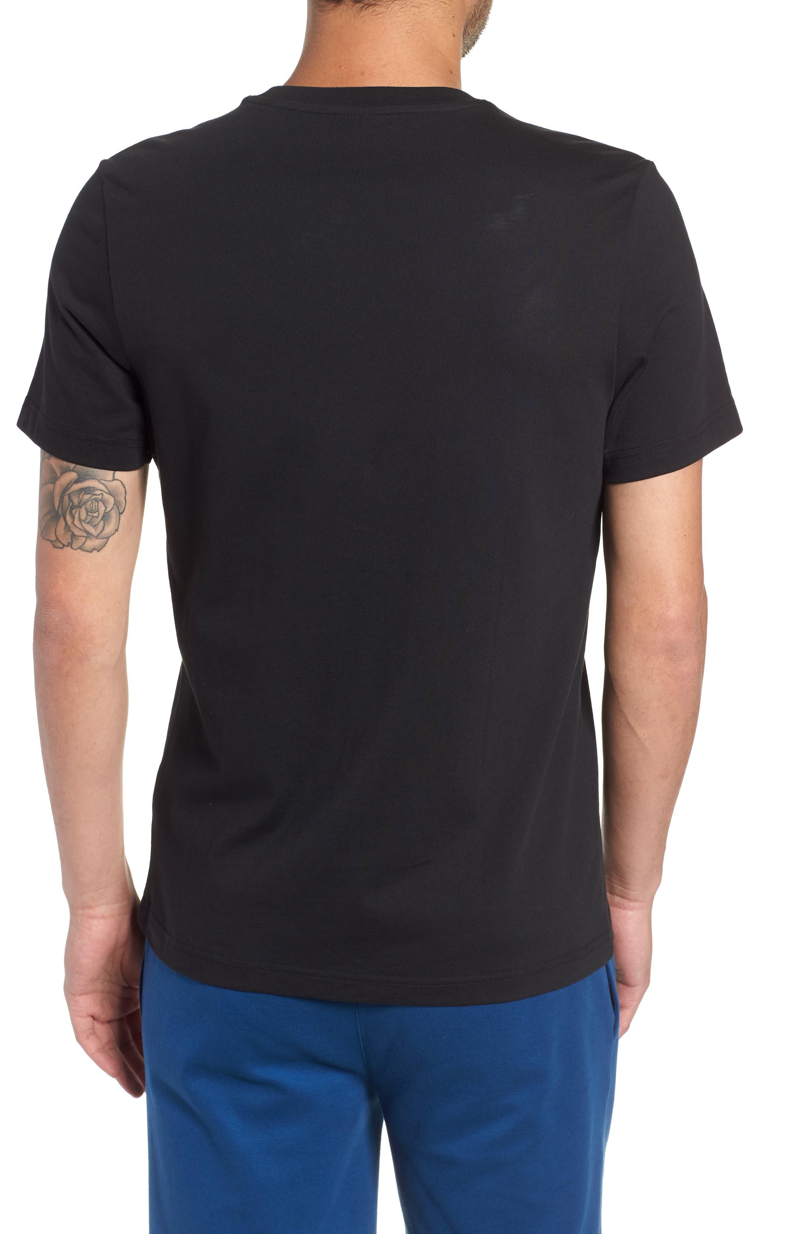 Logo Graphic T-Shirt,                             Alternate thumbnail 2, color,                             BLACK/WHITE