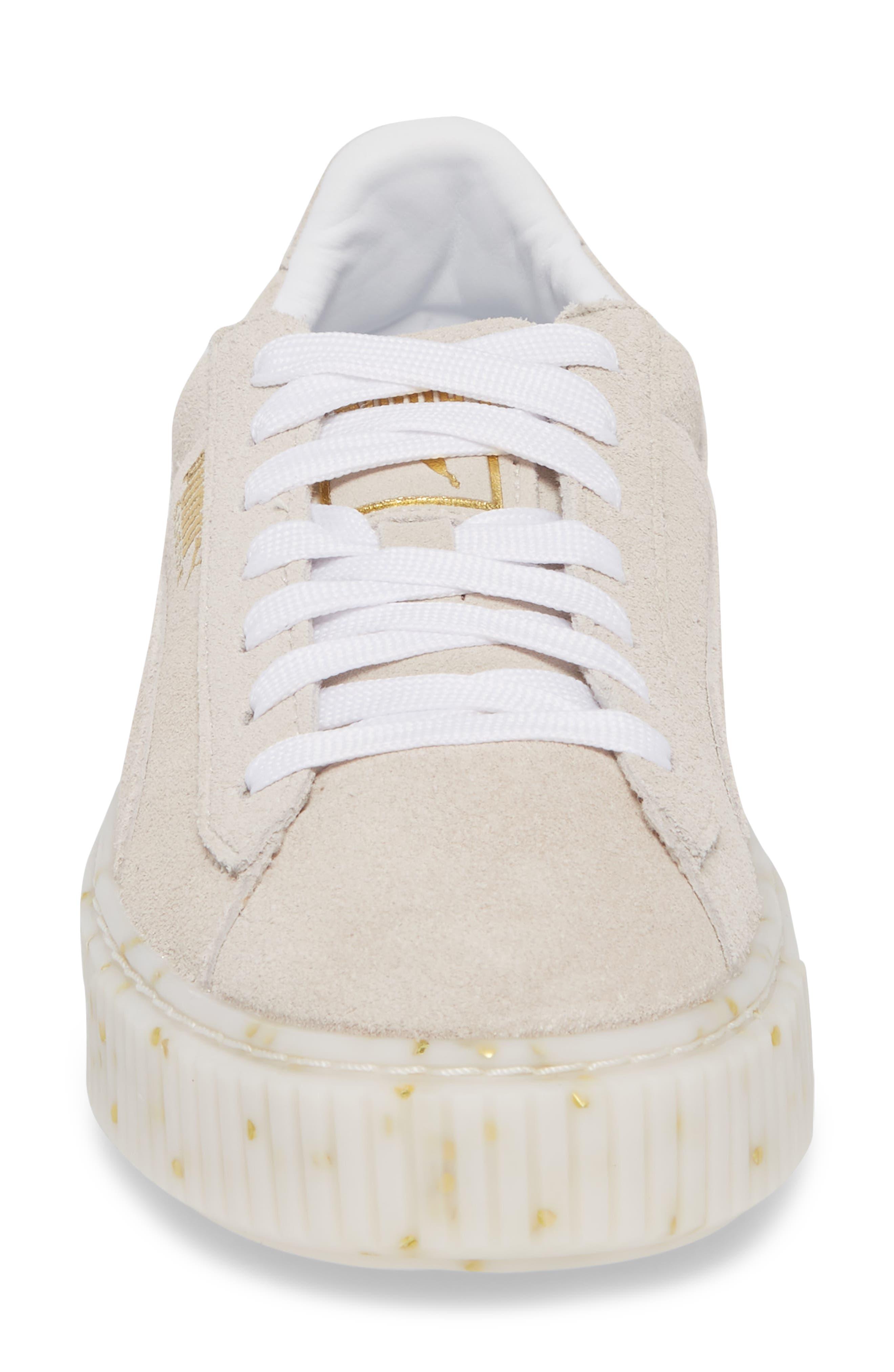 Suede Platform Sneaker,                             Alternate thumbnail 20, color,