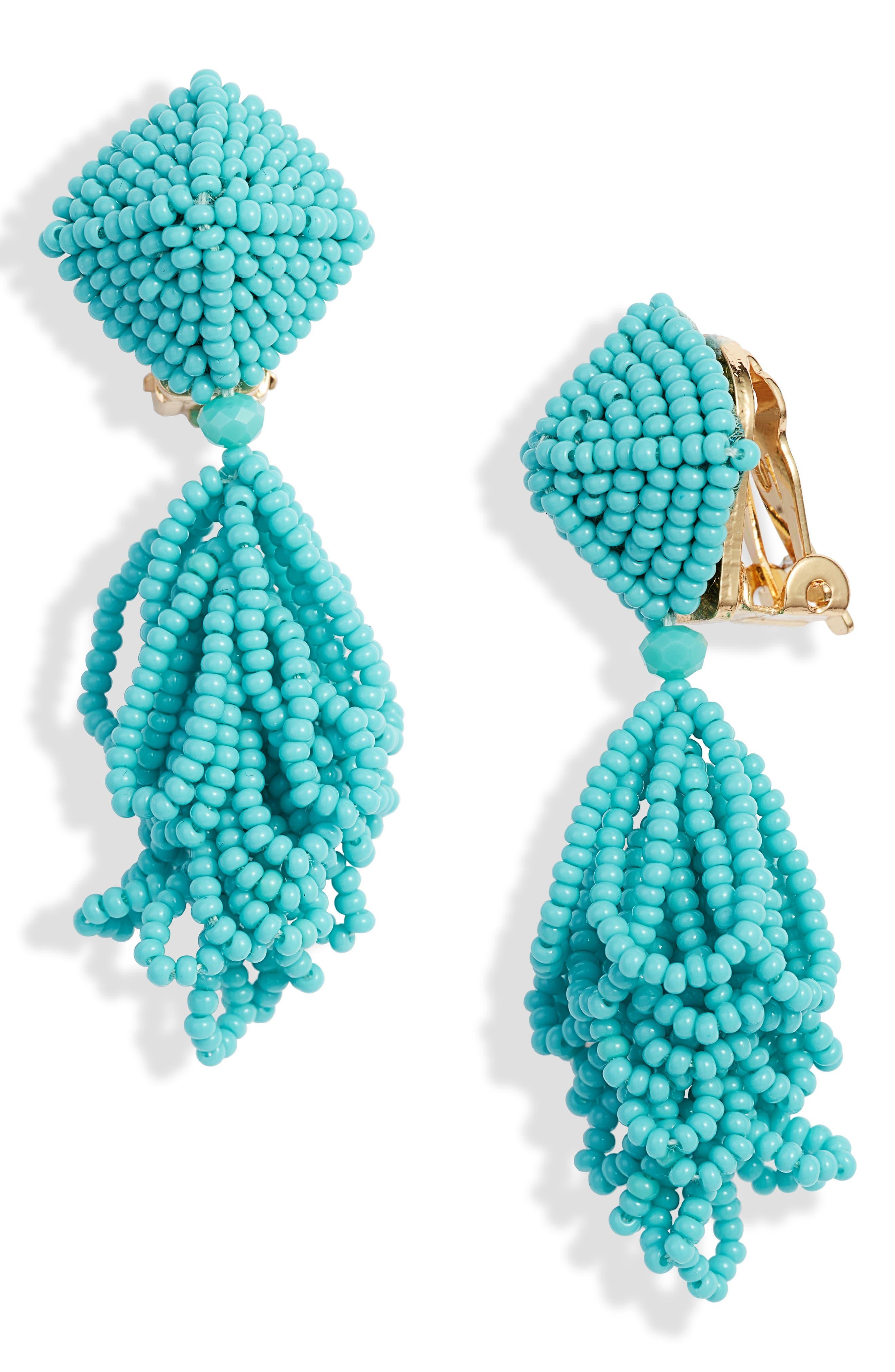 SACHIN & BABI Noir Mini Lulu Drop Earrings, Main, color, TURQUOISE