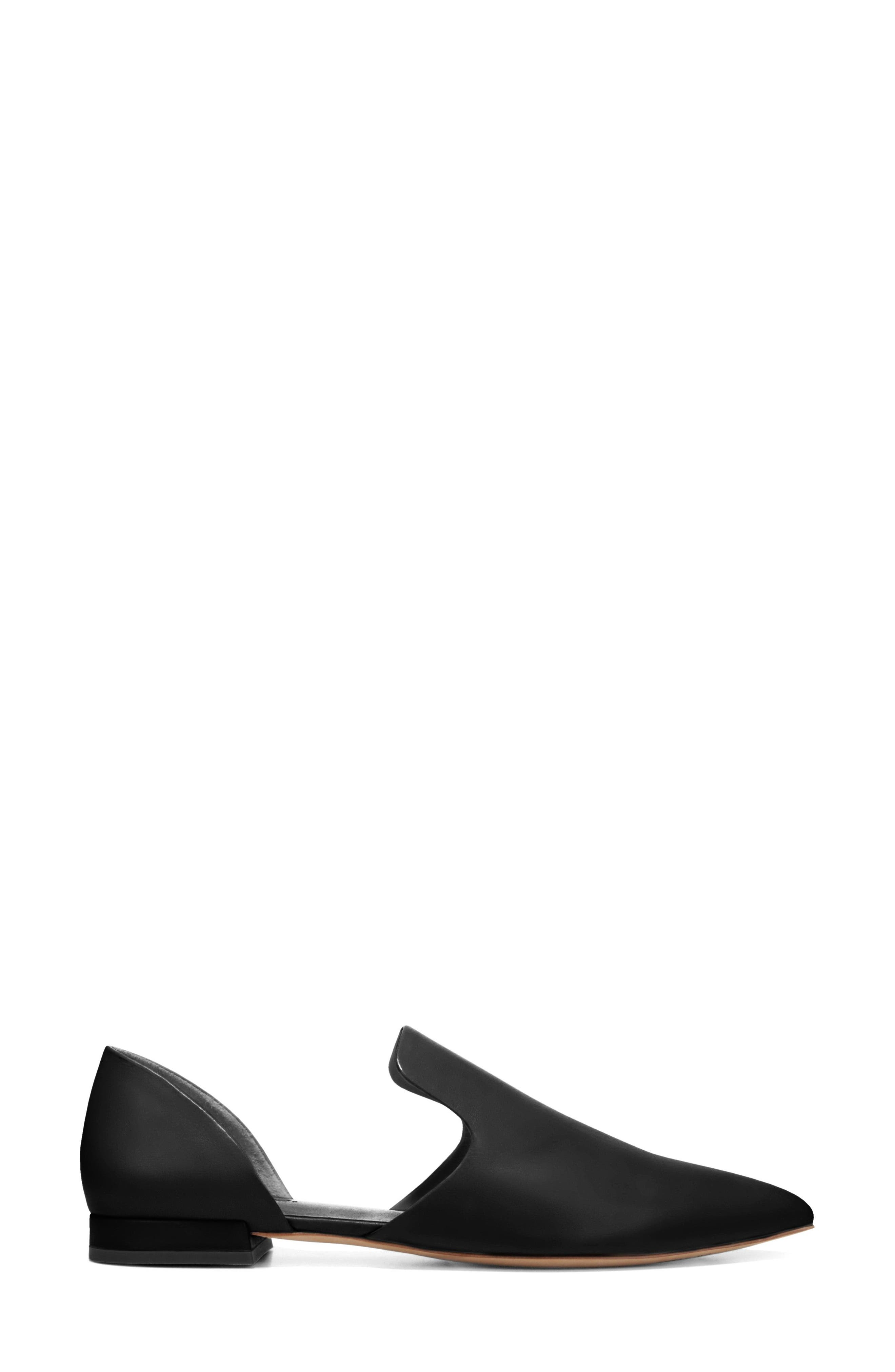 Damris d'Orsay Loafer,                             Alternate thumbnail 3, color,                             BLACK SIVIGLIA CALF