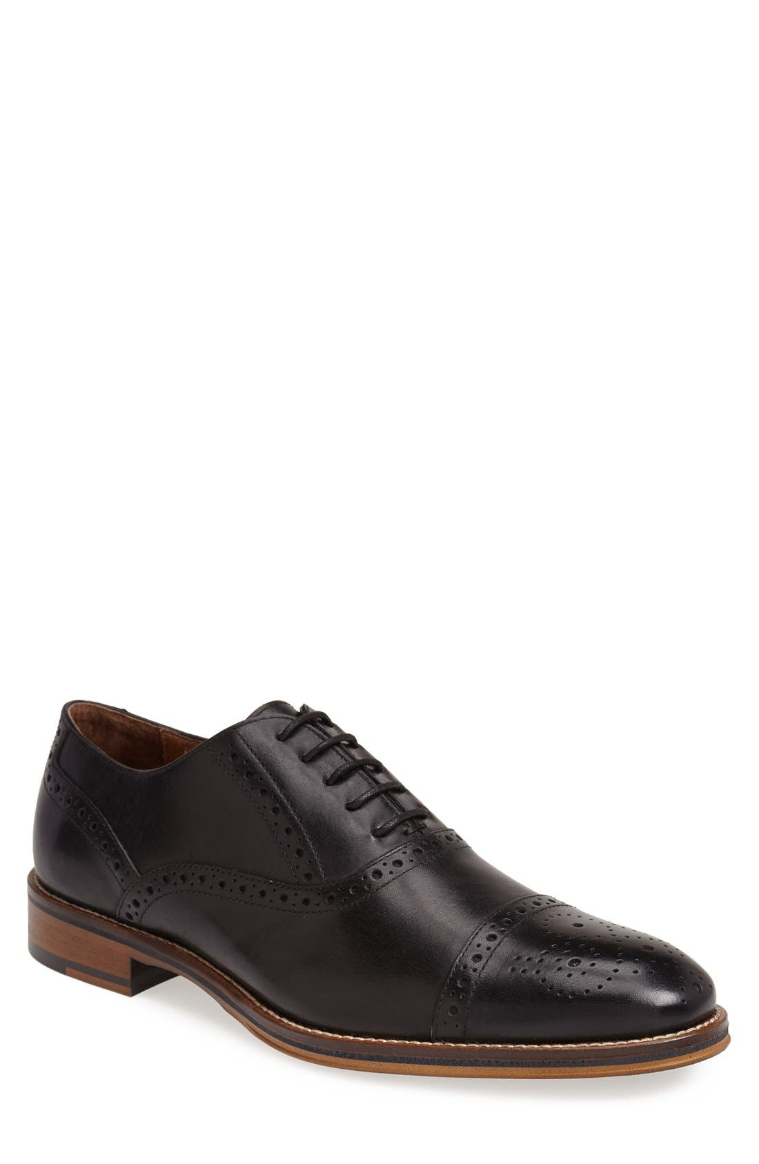 Conard Cap Toe Oxford,                         Main,                         color, BLACK