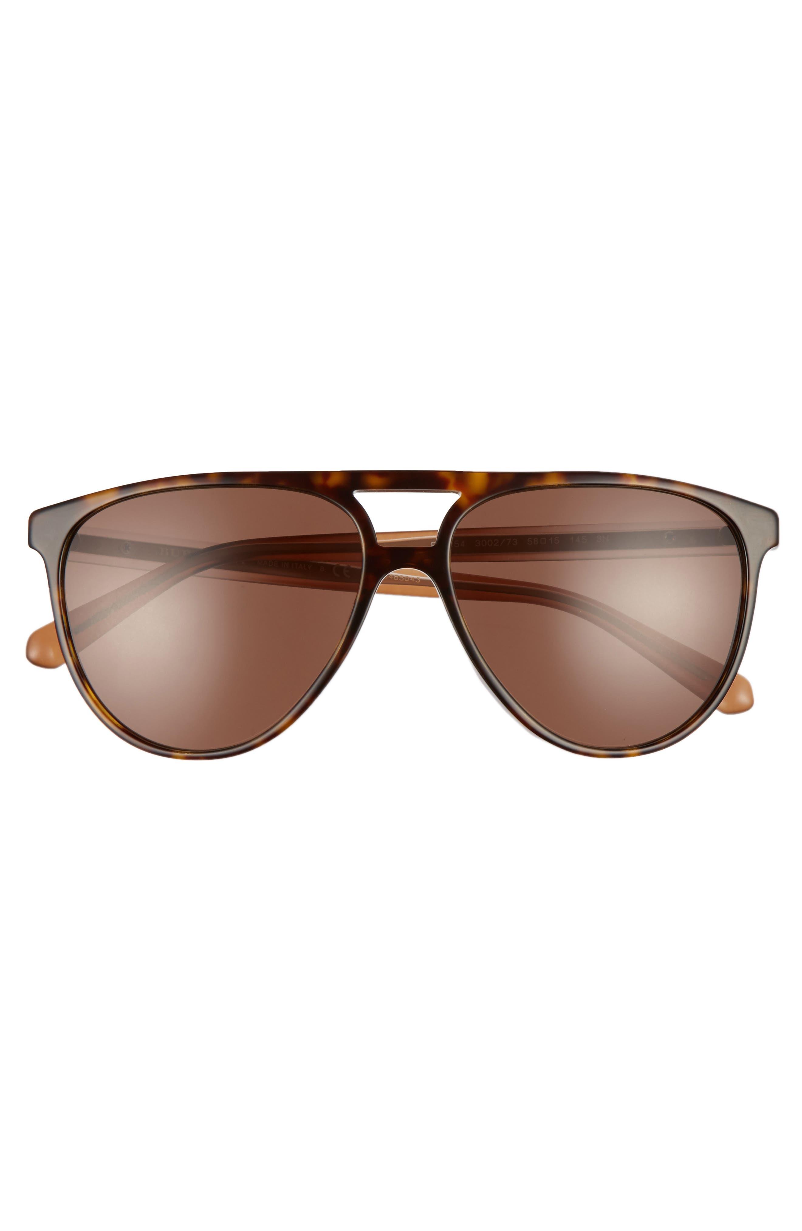 58mm Aviator Sunglasses,                             Alternate thumbnail 3, color,